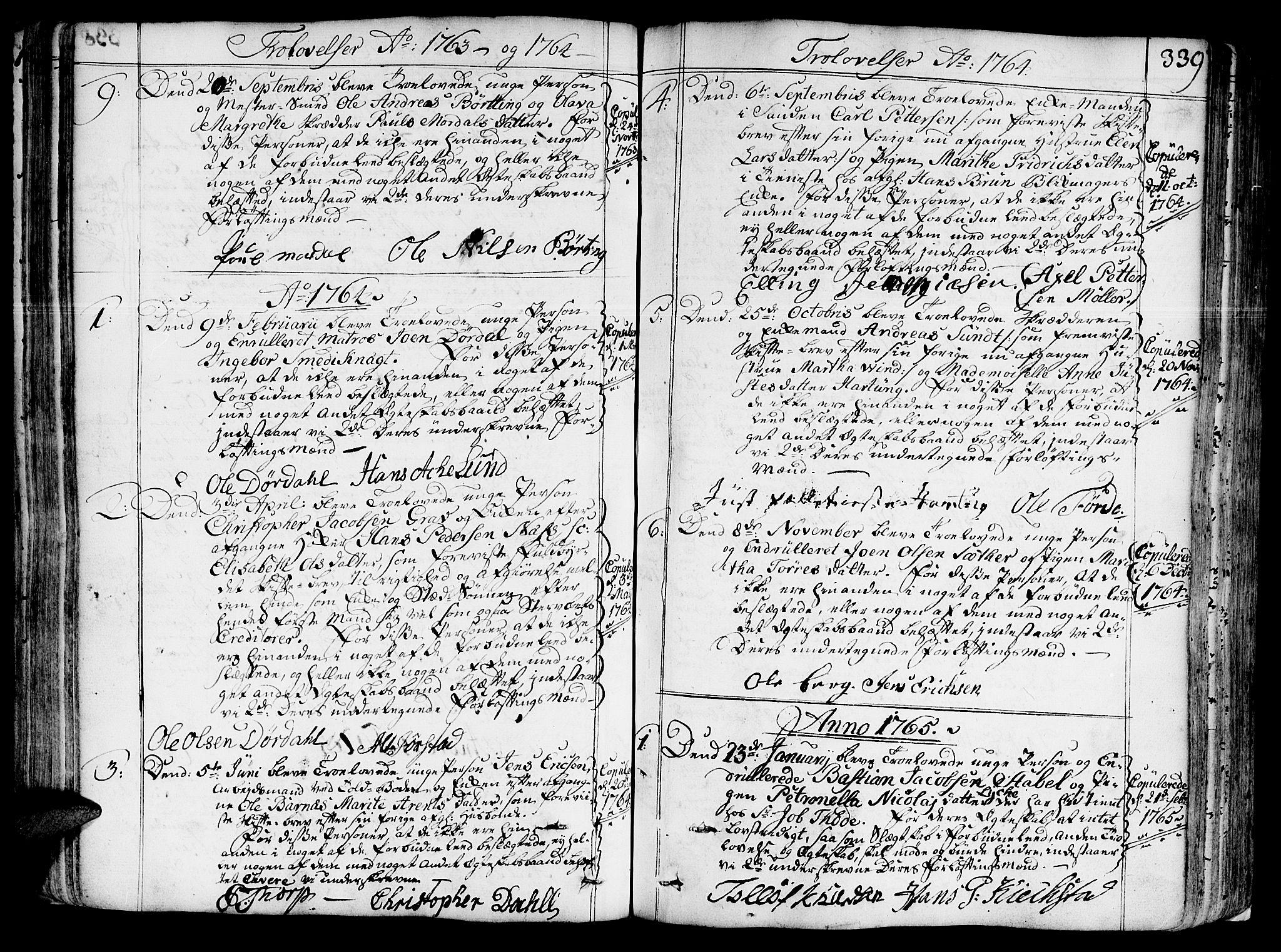SAT, Ministerialprotokoller, klokkerbøker og fødselsregistre - Sør-Trøndelag, 602/L0103: Ministerialbok nr. 602A01, 1732-1774, s. 339