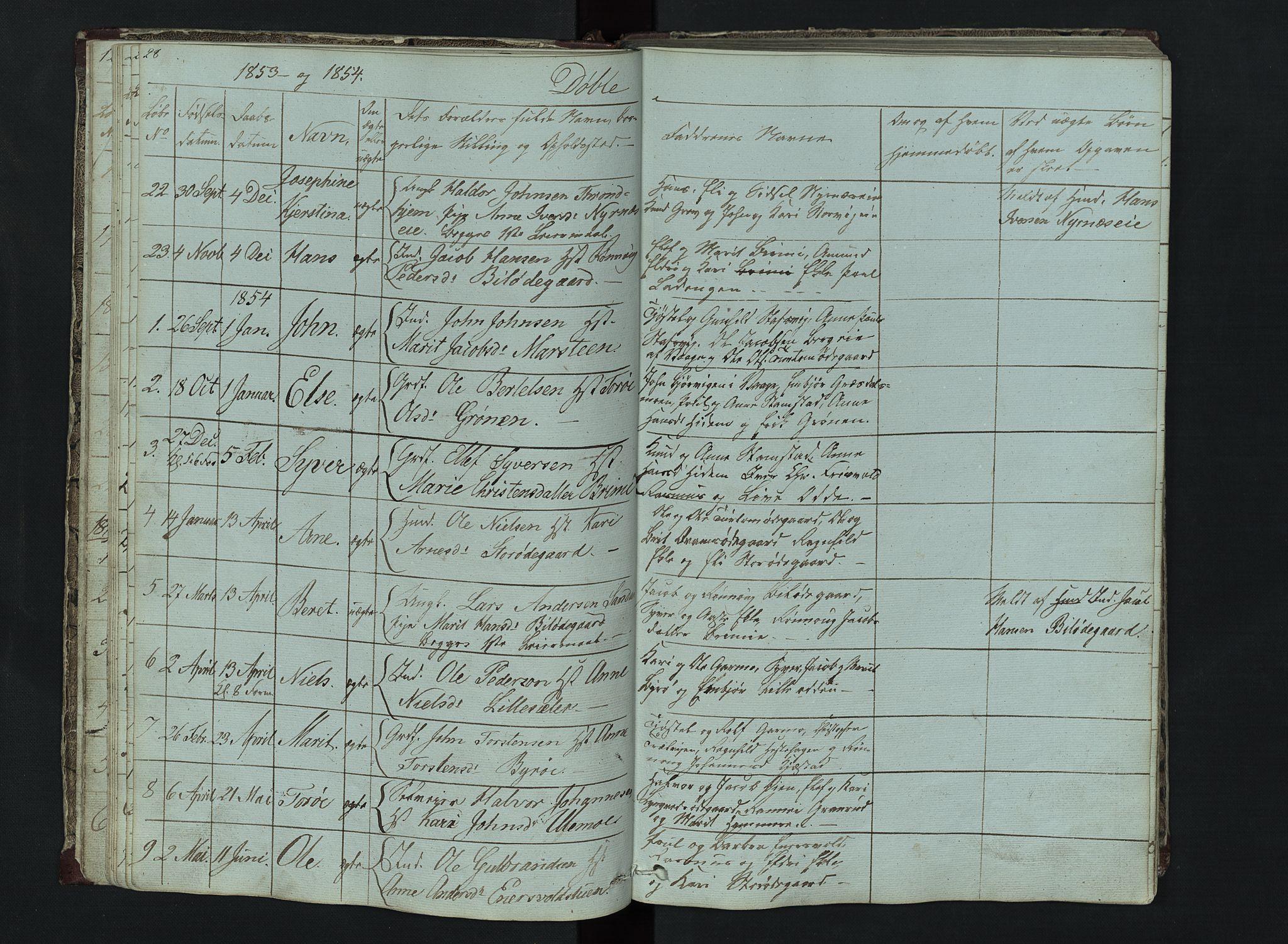 SAH, Lom prestekontor, L/L0014: Klokkerbok nr. 14, 1845-1876, s. 28-29