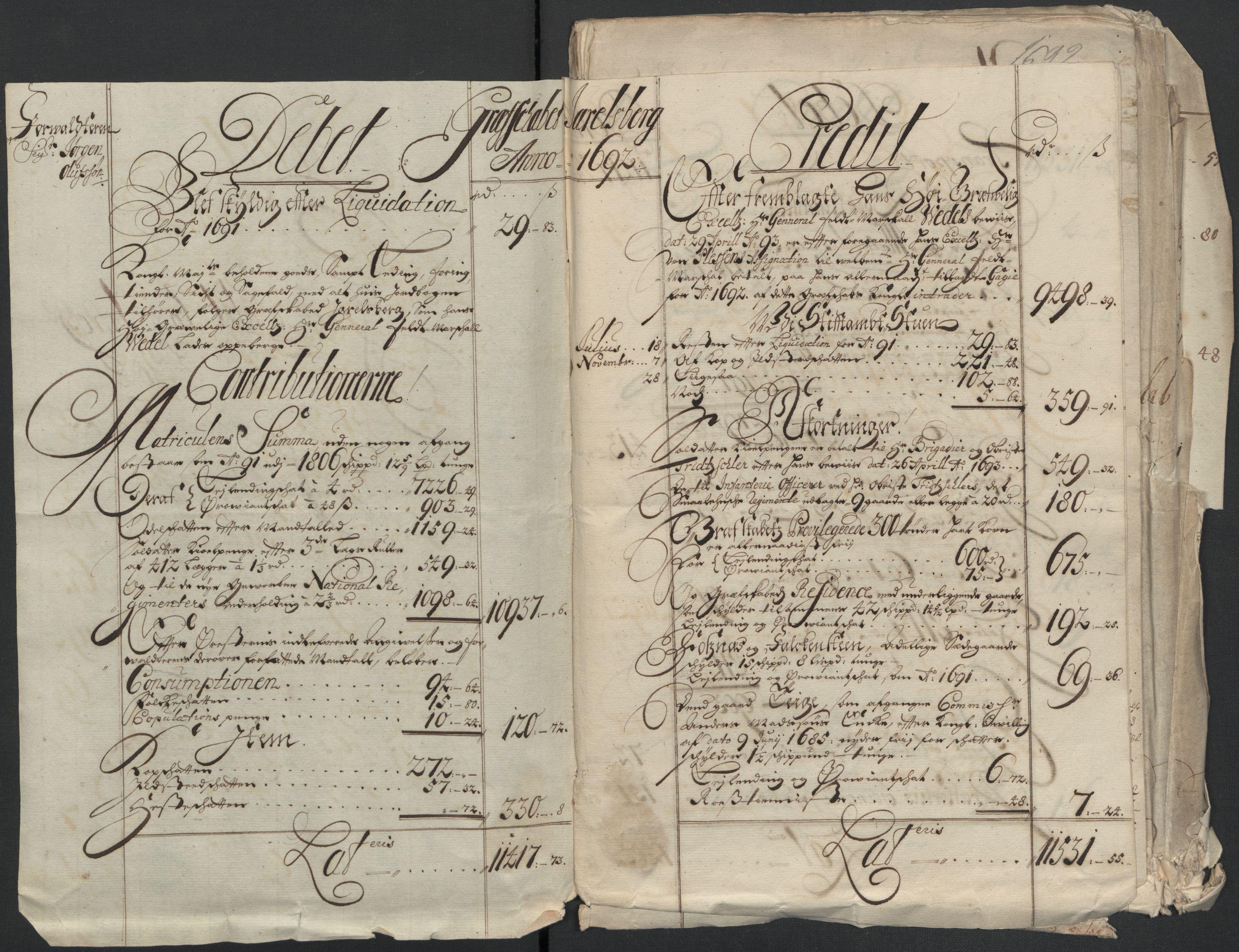 RA, Rentekammeret inntil 1814, Reviderte regnskaper, Fogderegnskap, R32/L1865: Fogderegnskap Jarlsberg grevskap, 1692, s. 14