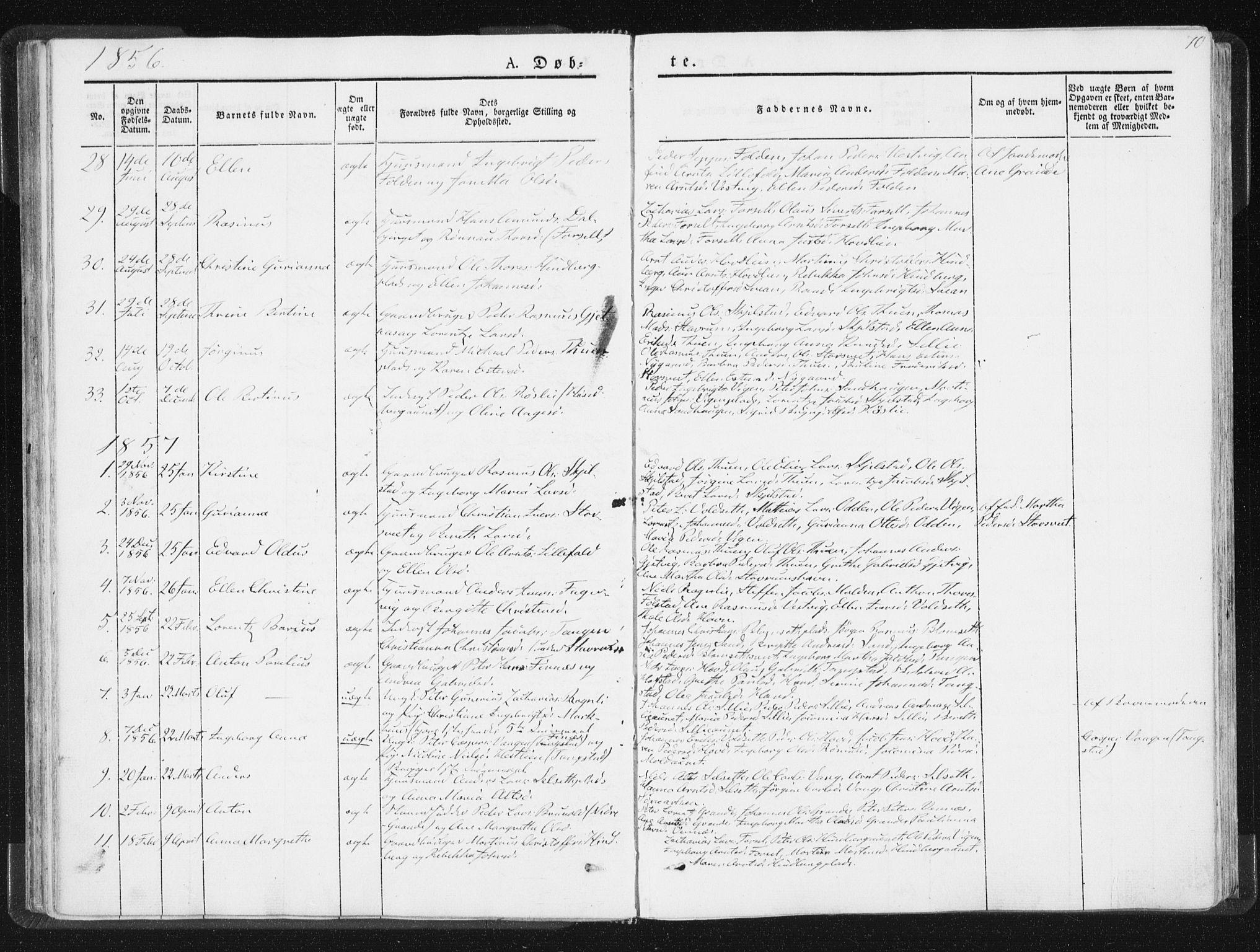 SAT, Ministerialprotokoller, klokkerbøker og fødselsregistre - Nord-Trøndelag, 744/L0418: Ministerialbok nr. 744A02, 1843-1866, s. 70