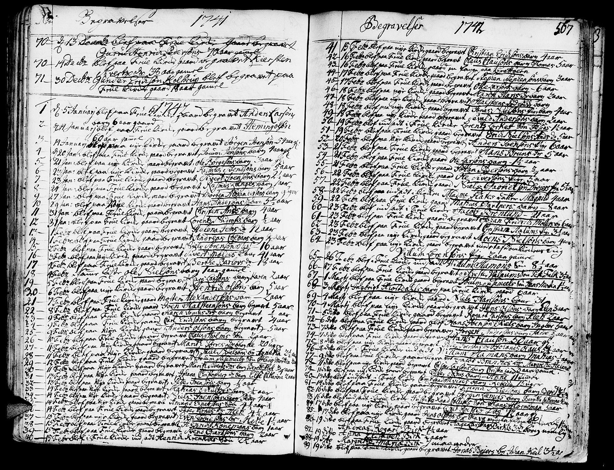 SAT, Ministerialprotokoller, klokkerbøker og fødselsregistre - Sør-Trøndelag, 602/L0103: Ministerialbok nr. 602A01, 1732-1774, s. 567