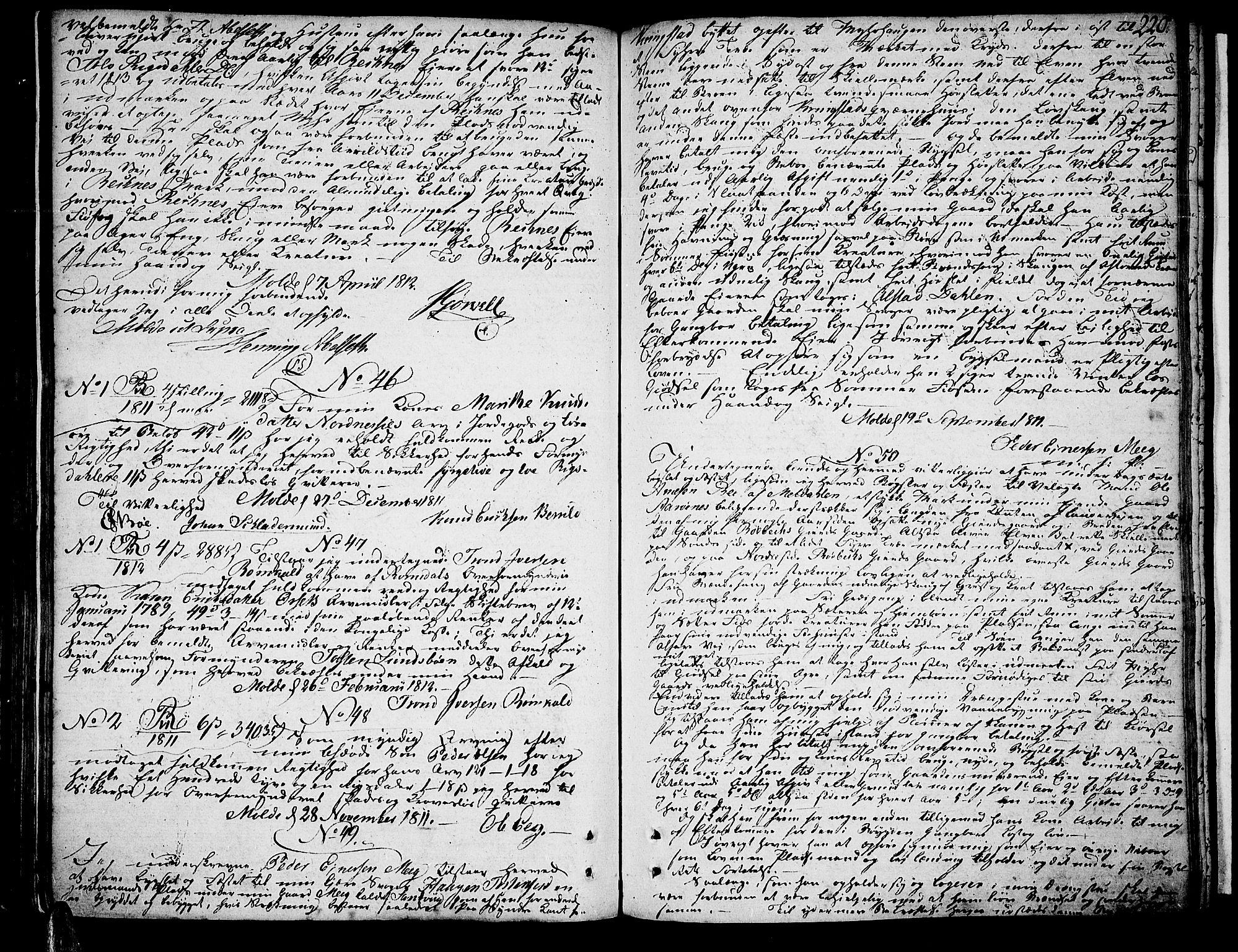 SAT, Romsdal sorenskriveri, 2/2C/L0008: Pantebok nr. 6, 1806-1816, s. 220