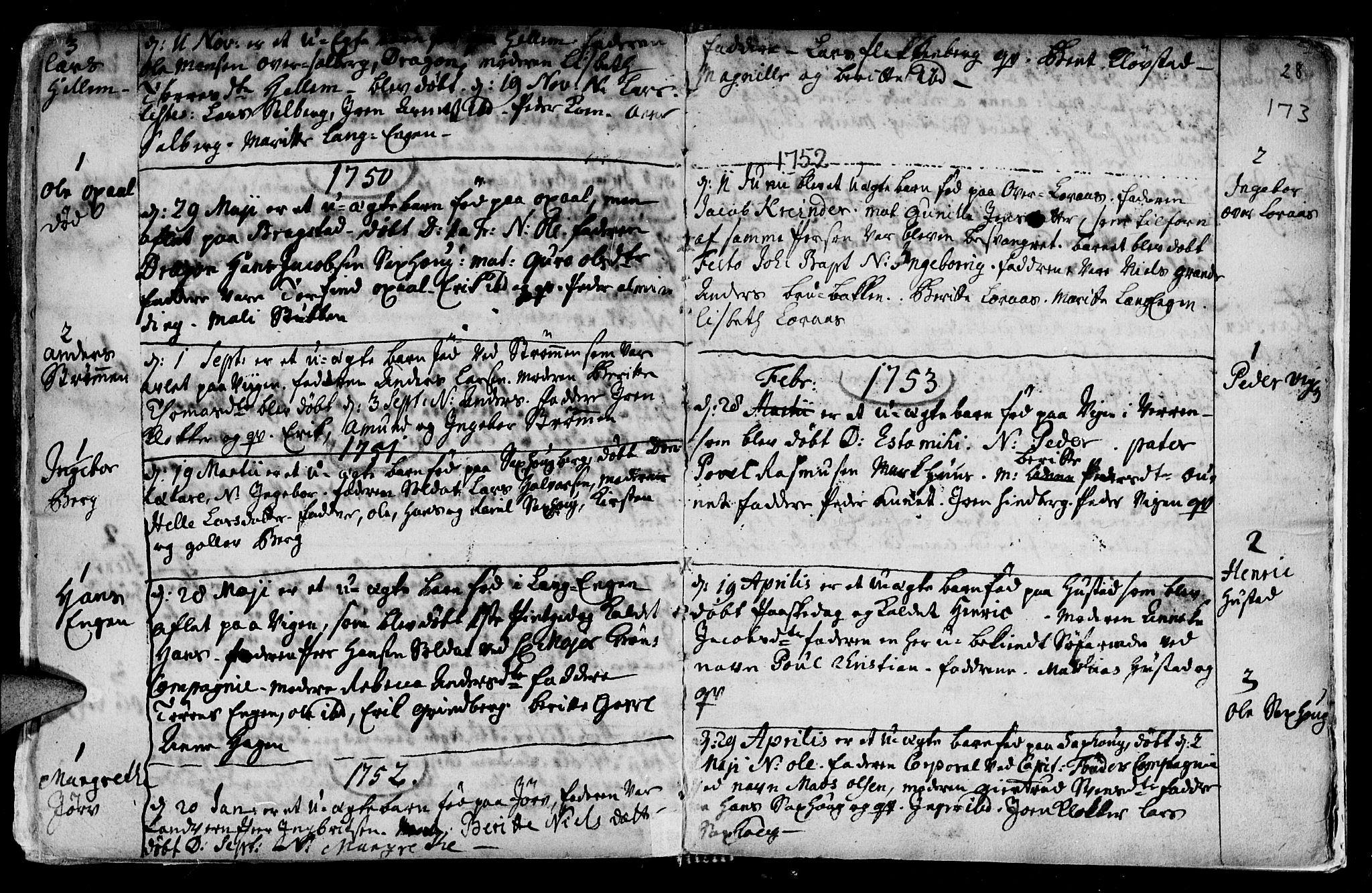 SAT, Ministerialprotokoller, klokkerbøker og fødselsregistre - Nord-Trøndelag, 730/L0272: Ministerialbok nr. 730A01, 1733-1764, s. 173