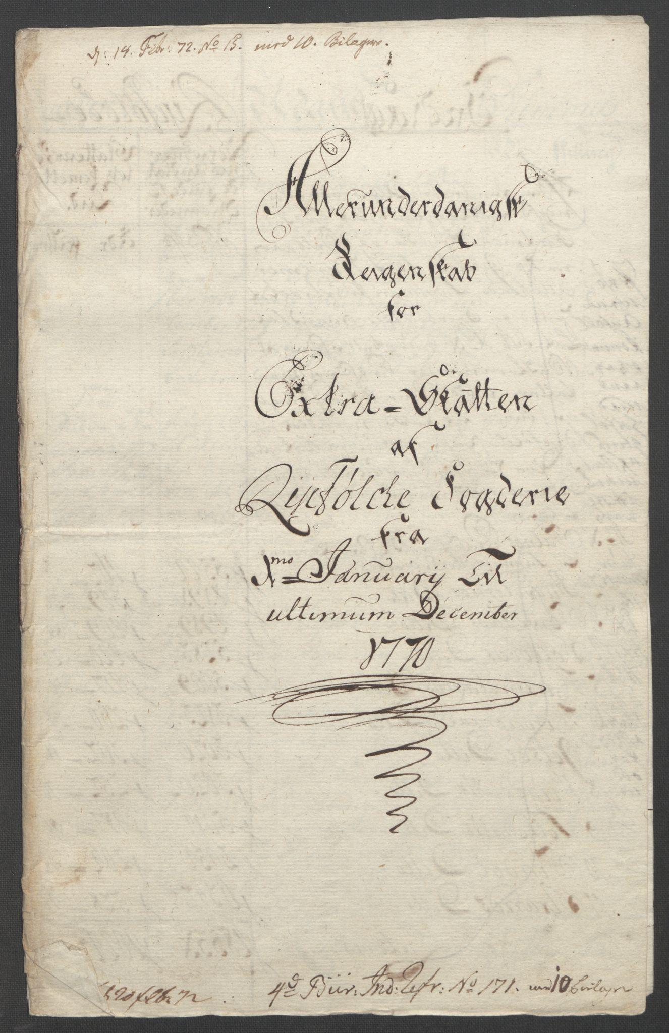 RA, Rentekammeret inntil 1814, Reviderte regnskaper, Fogderegnskap, R47/L2972: Ekstraskatten Ryfylke, 1762-1780, s. 200
