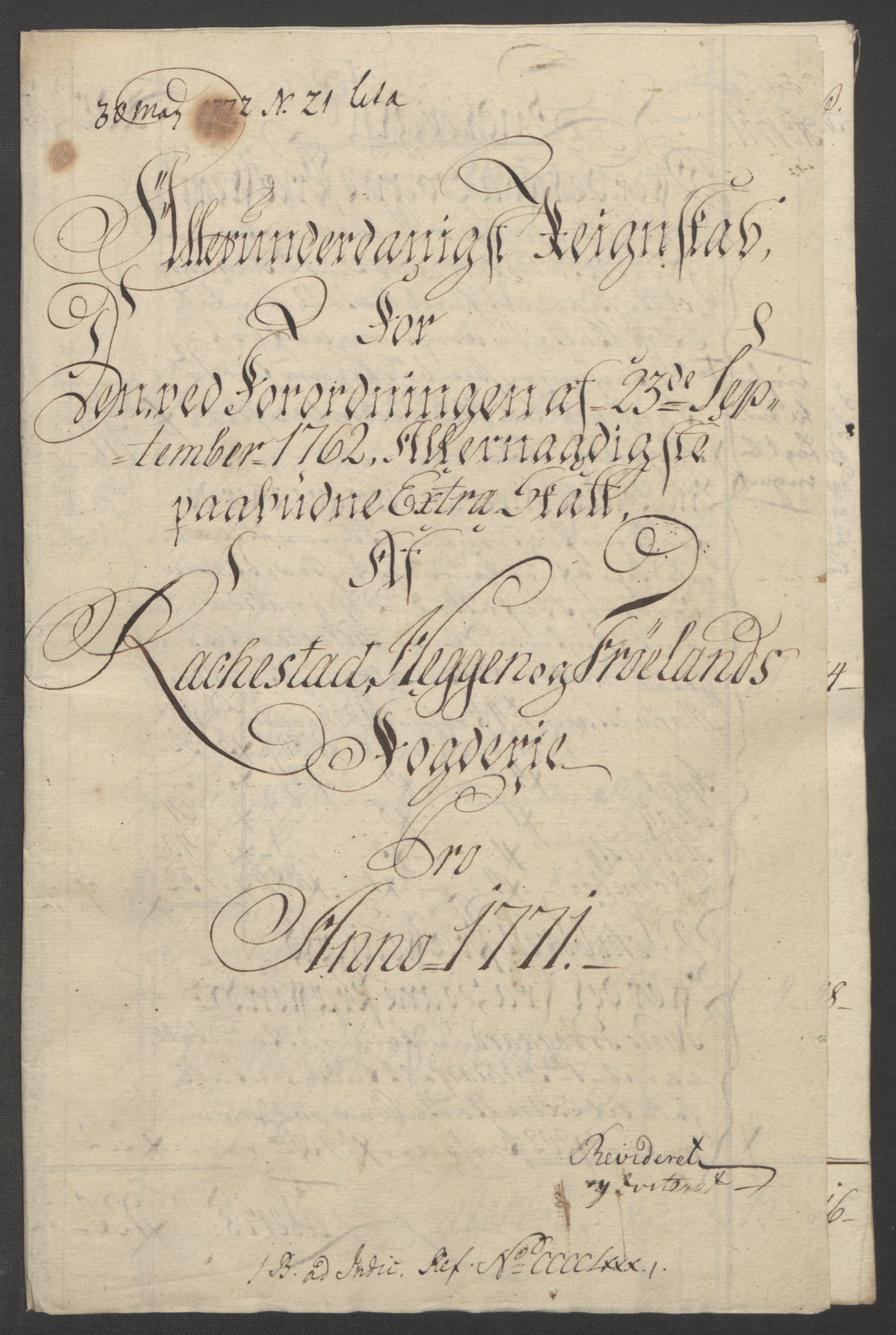 RA, Rentekammeret inntil 1814, Reviderte regnskaper, Fogderegnskap, R07/L0413: Ekstraskatten Rakkestad, Heggen og Frøland, 1762-1772, s. 477
