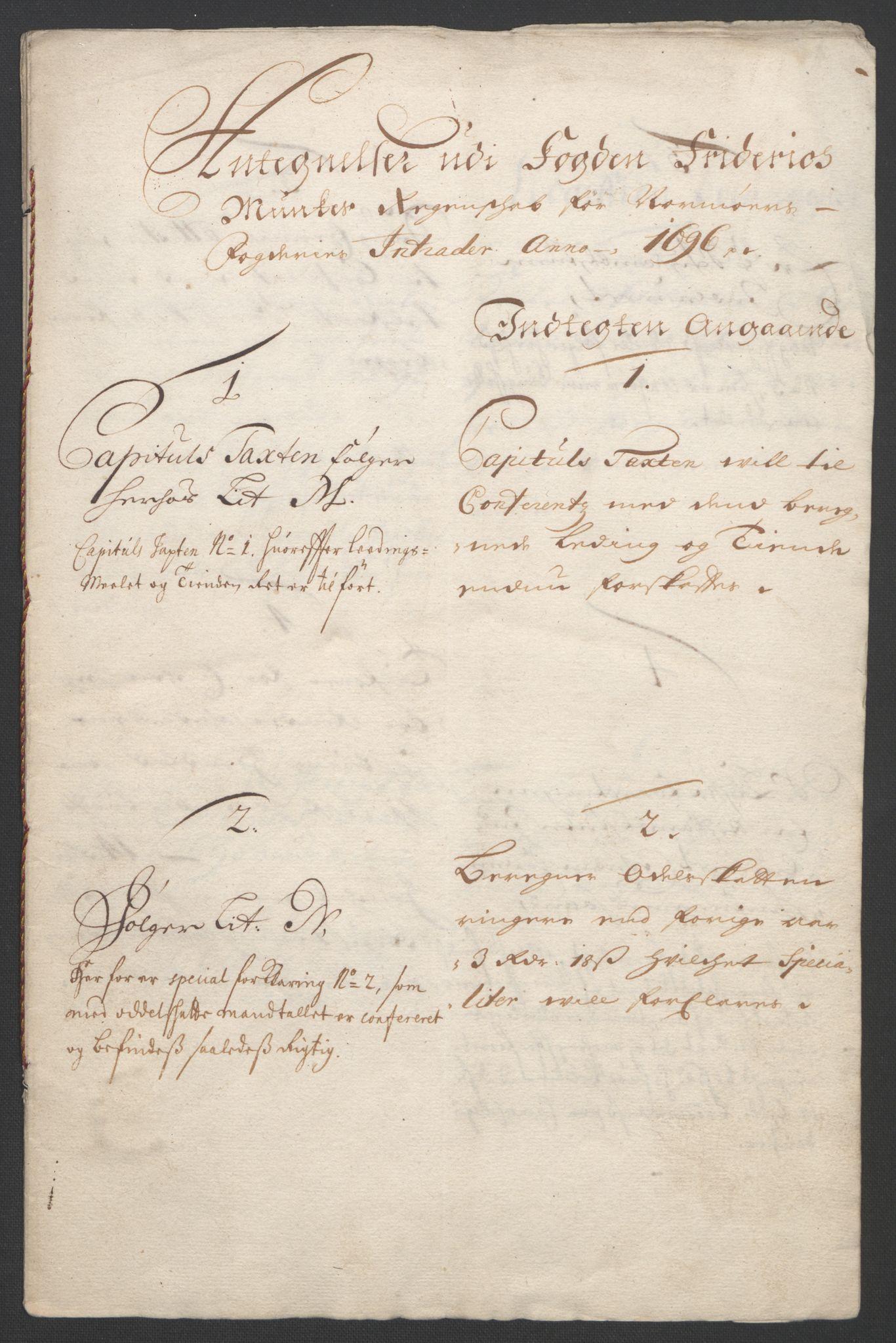 RA, Rentekammeret inntil 1814, Reviderte regnskaper, Fogderegnskap, R56/L3736: Fogderegnskap Nordmøre, 1694-1696, s. 473