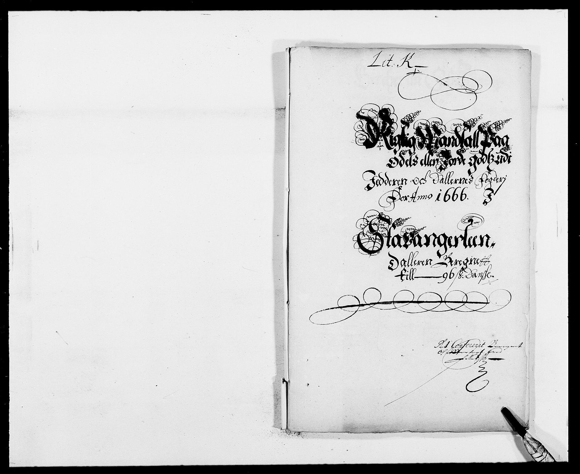 RA, Rentekammeret inntil 1814, Reviderte regnskaper, Fogderegnskap, R46/L2709: Fogderegnskap Jæren og Dalane, 1665-1667, s. 334