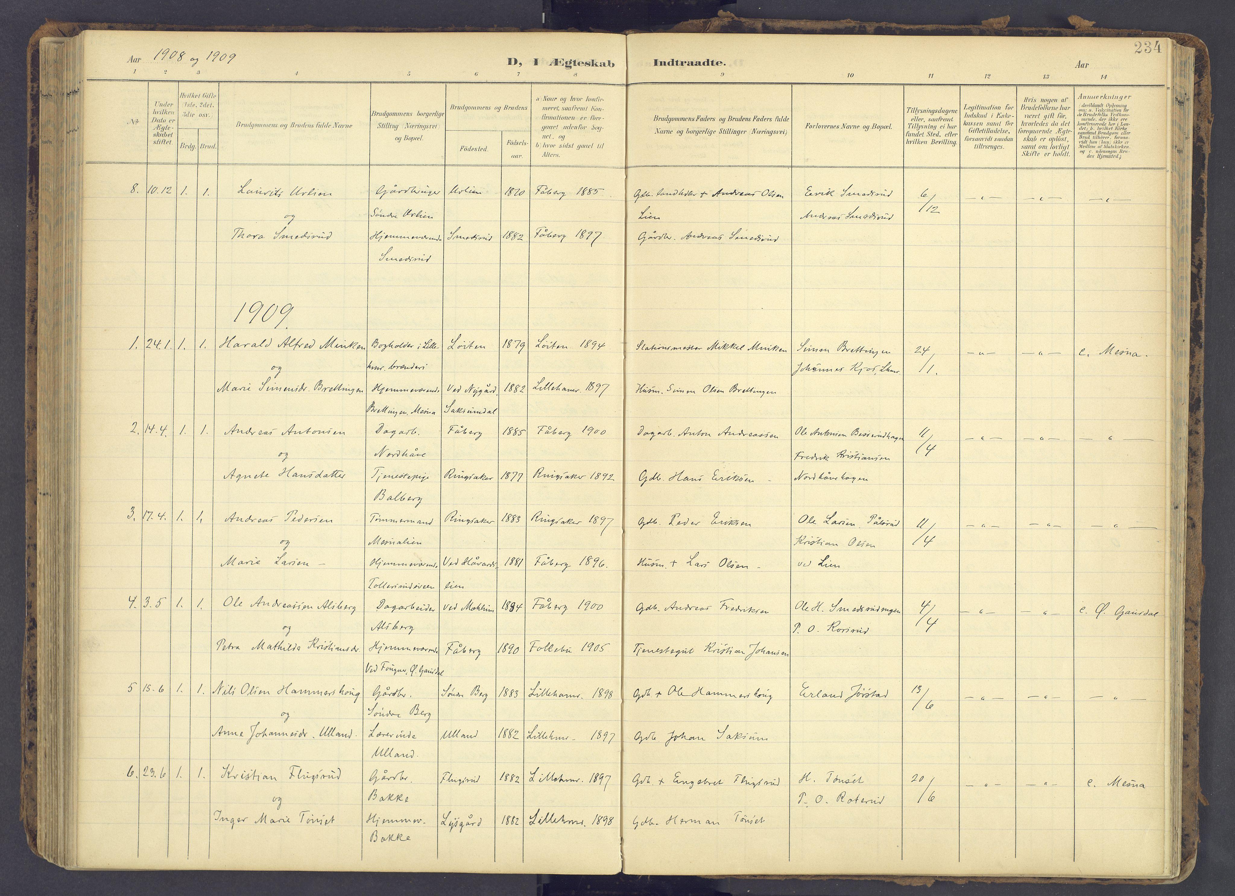SAH, Fåberg prestekontor, Ministerialbok nr. 12, 1899-1915, s. 234
