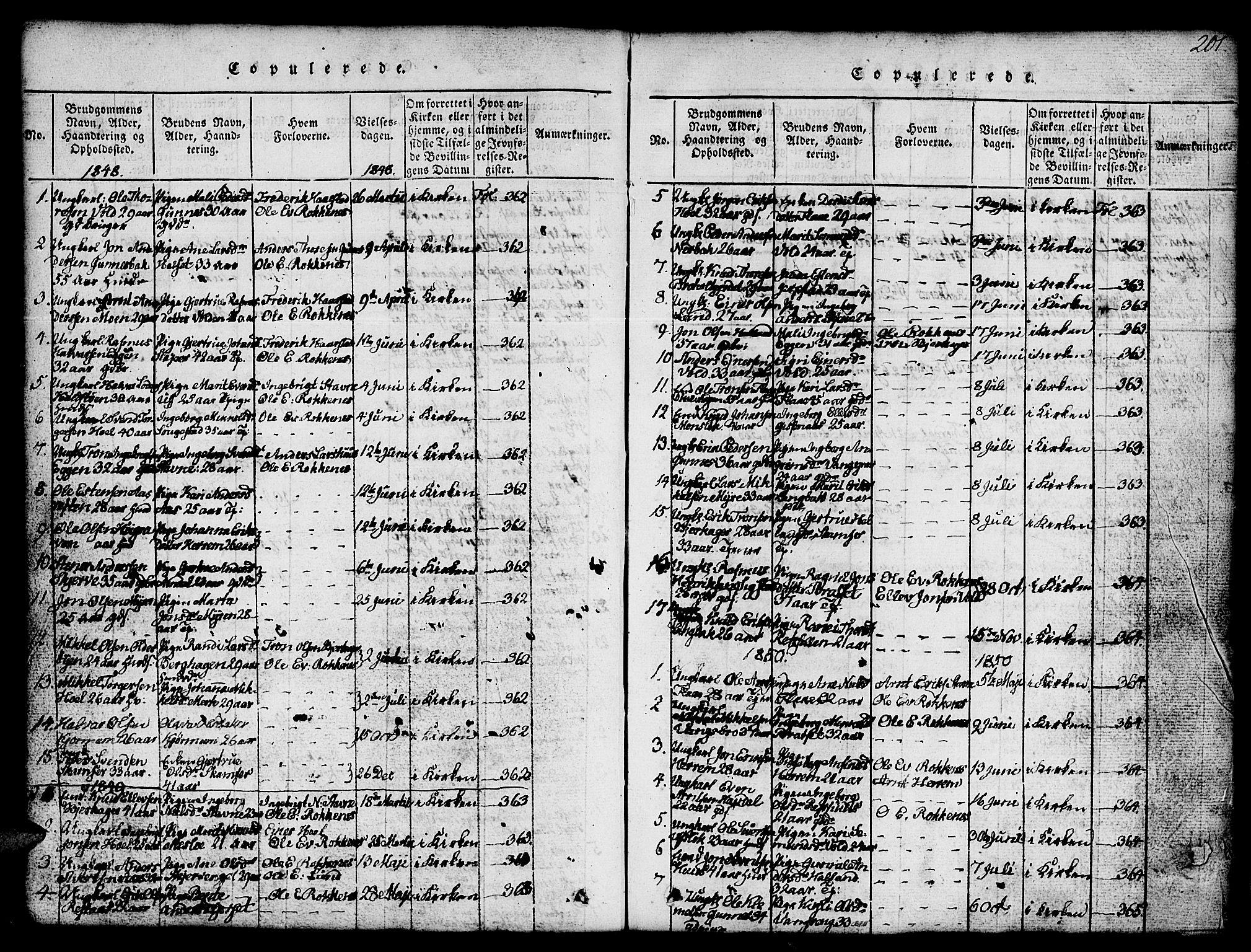 SAT, Ministerialprotokoller, klokkerbøker og fødselsregistre - Sør-Trøndelag, 674/L0874: Klokkerbok nr. 674C01, 1816-1860, s. 201