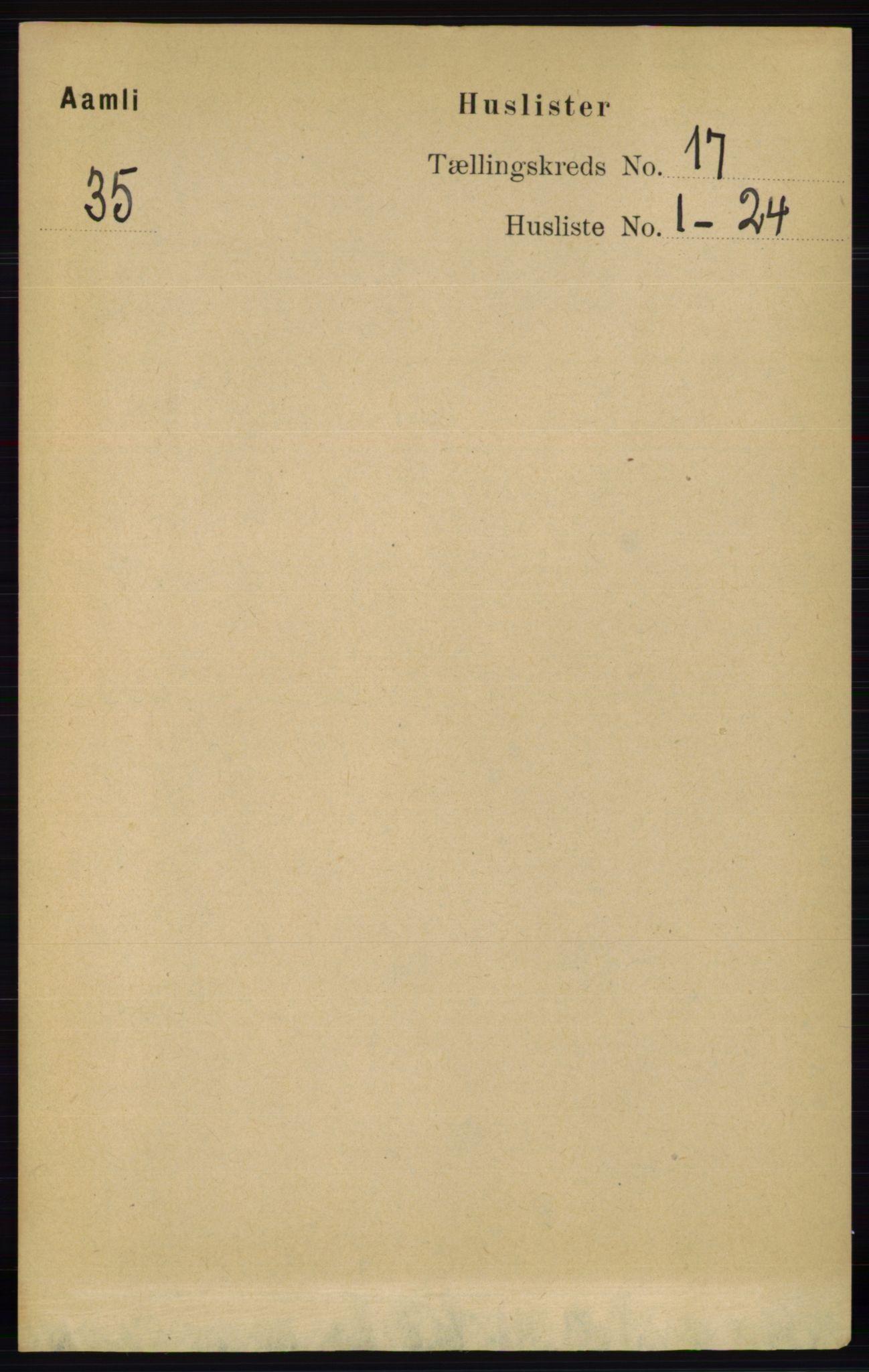 RA, Folketelling 1891 for 0929 Åmli herred, 1891, s. 2775