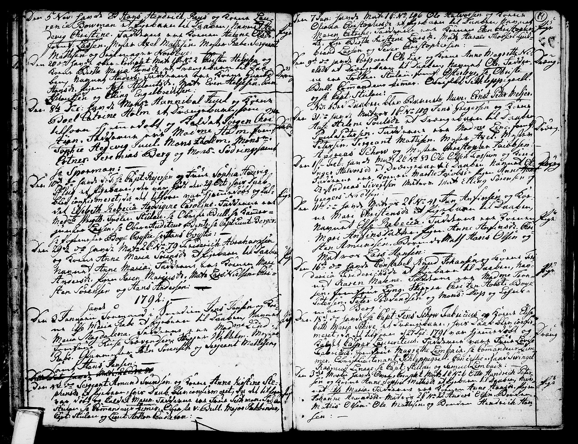 SAKO, Stavern kirkebøker, F/Fa/L0002: Ministerialbok nr. 2, 1783-1809, s. 19