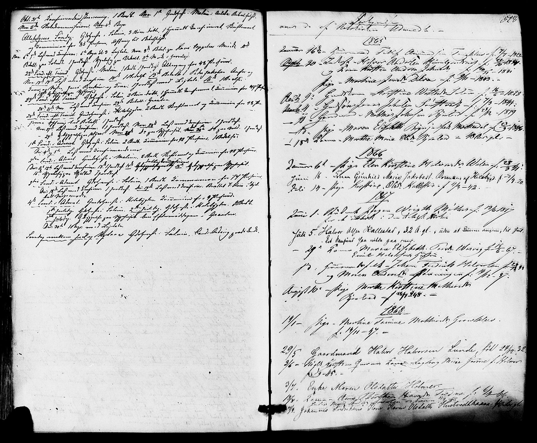 SAKO, Solum kirkebøker, F/Fa/L0008: Ministerialbok nr. I 8, 1865-1876, s. 528