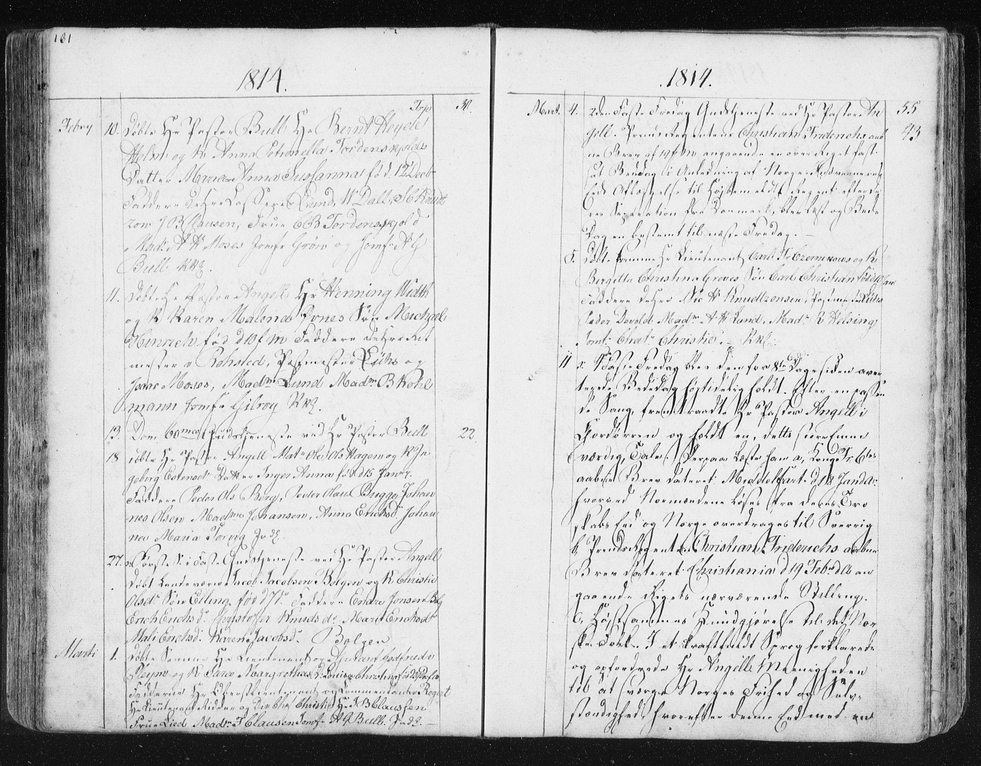 SAT, Ministerialprotokoller, klokkerbøker og fødselsregistre - Møre og Romsdal, 572/L0841: Ministerialbok nr. 572A04, 1784-1819, s. 161
