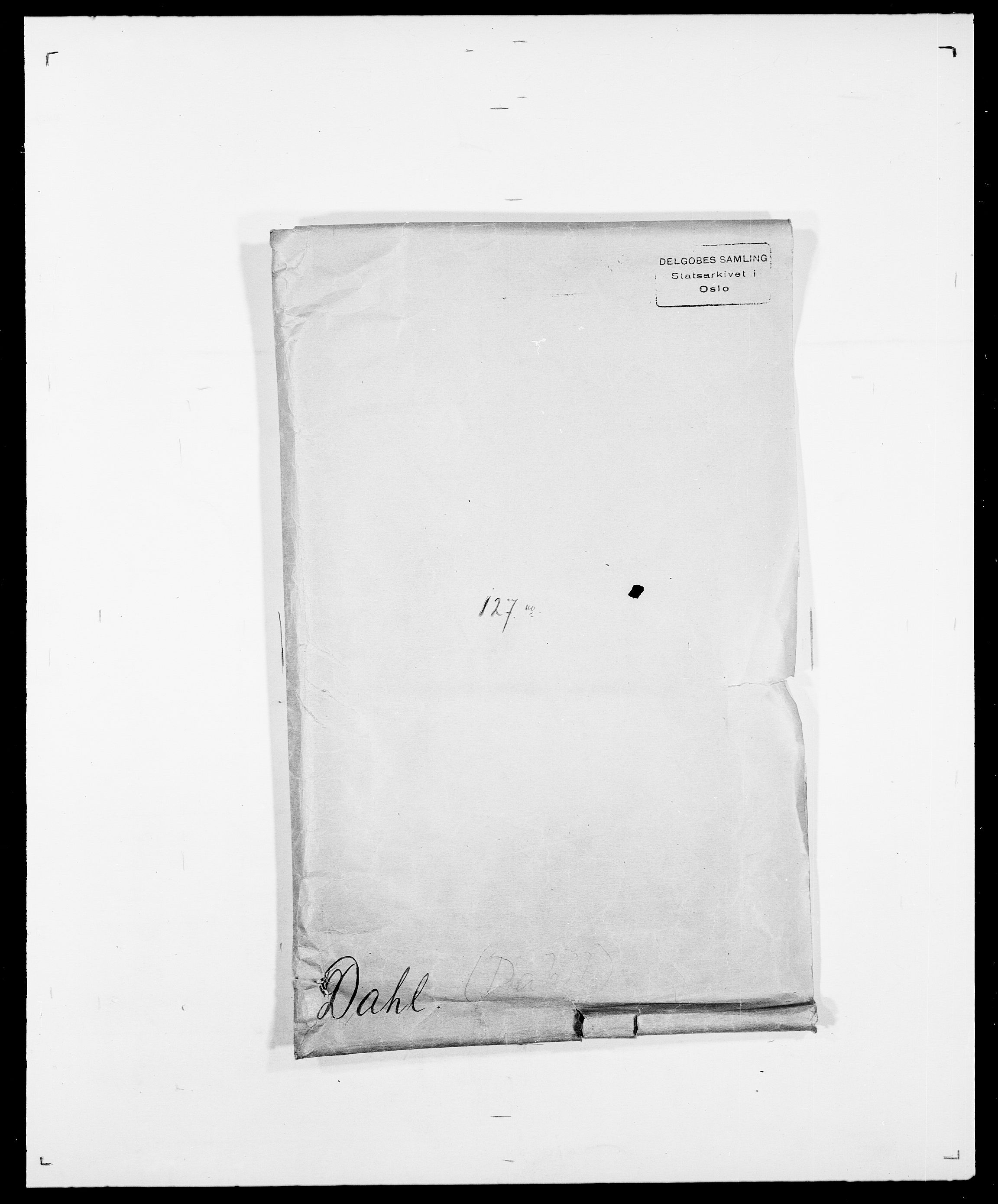 SAO, Delgobe, Charles Antoine - samling, D/Da/L0009: Dahl - v. Düren, s. 1