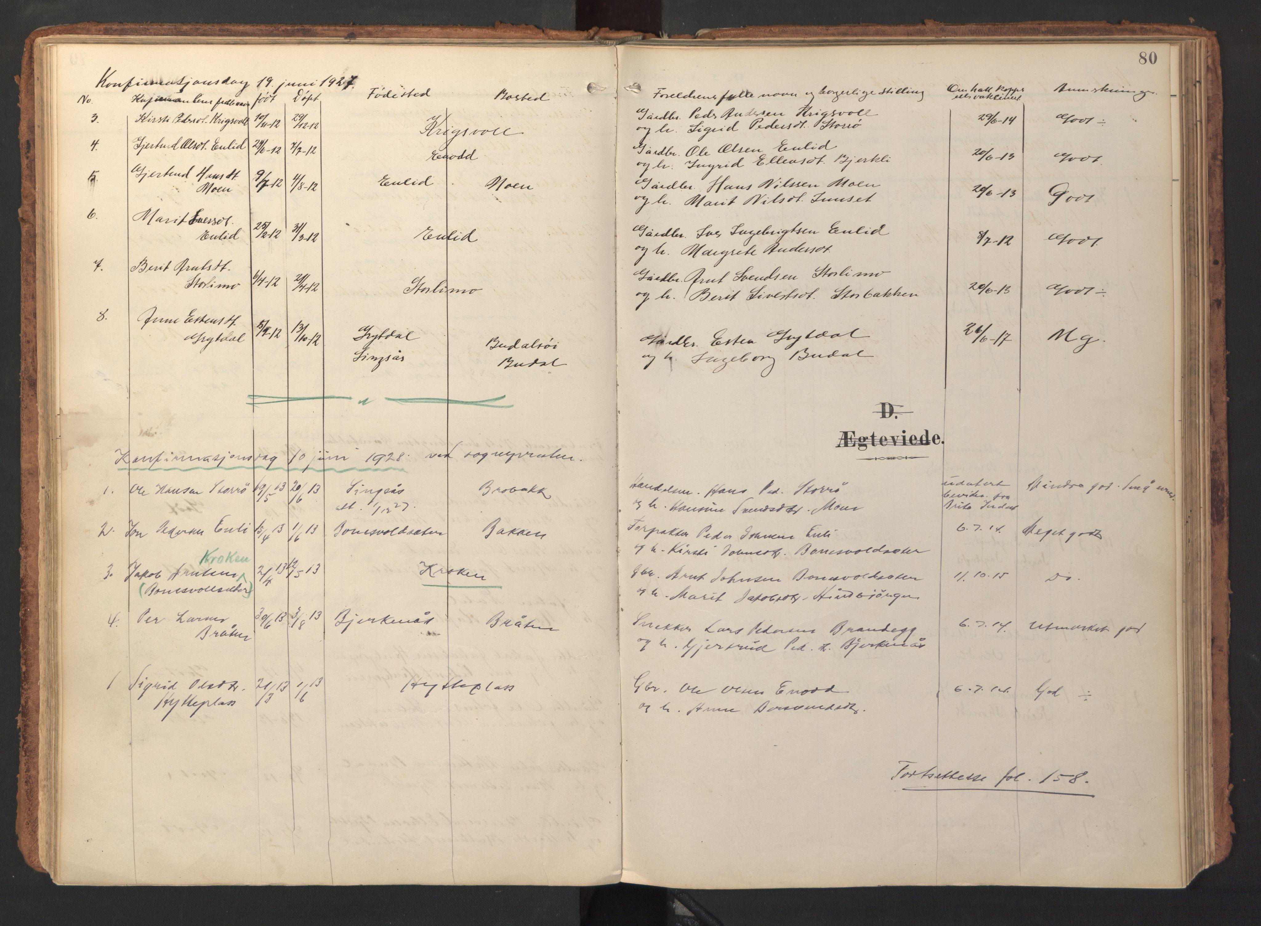 SAT, Ministerialprotokoller, klokkerbøker og fødselsregistre - Sør-Trøndelag, 690/L1050: Ministerialbok nr. 690A01, 1889-1929, s. 80