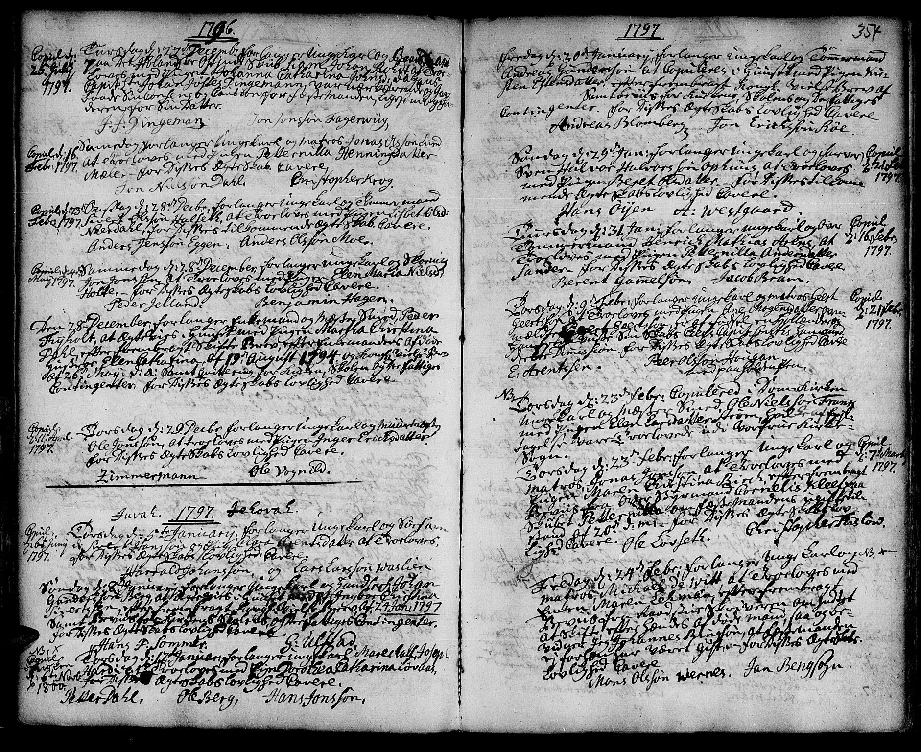 SAT, Ministerialprotokoller, klokkerbøker og fødselsregistre - Sør-Trøndelag, 601/L0038: Ministerialbok nr. 601A06, 1766-1877, s. 354