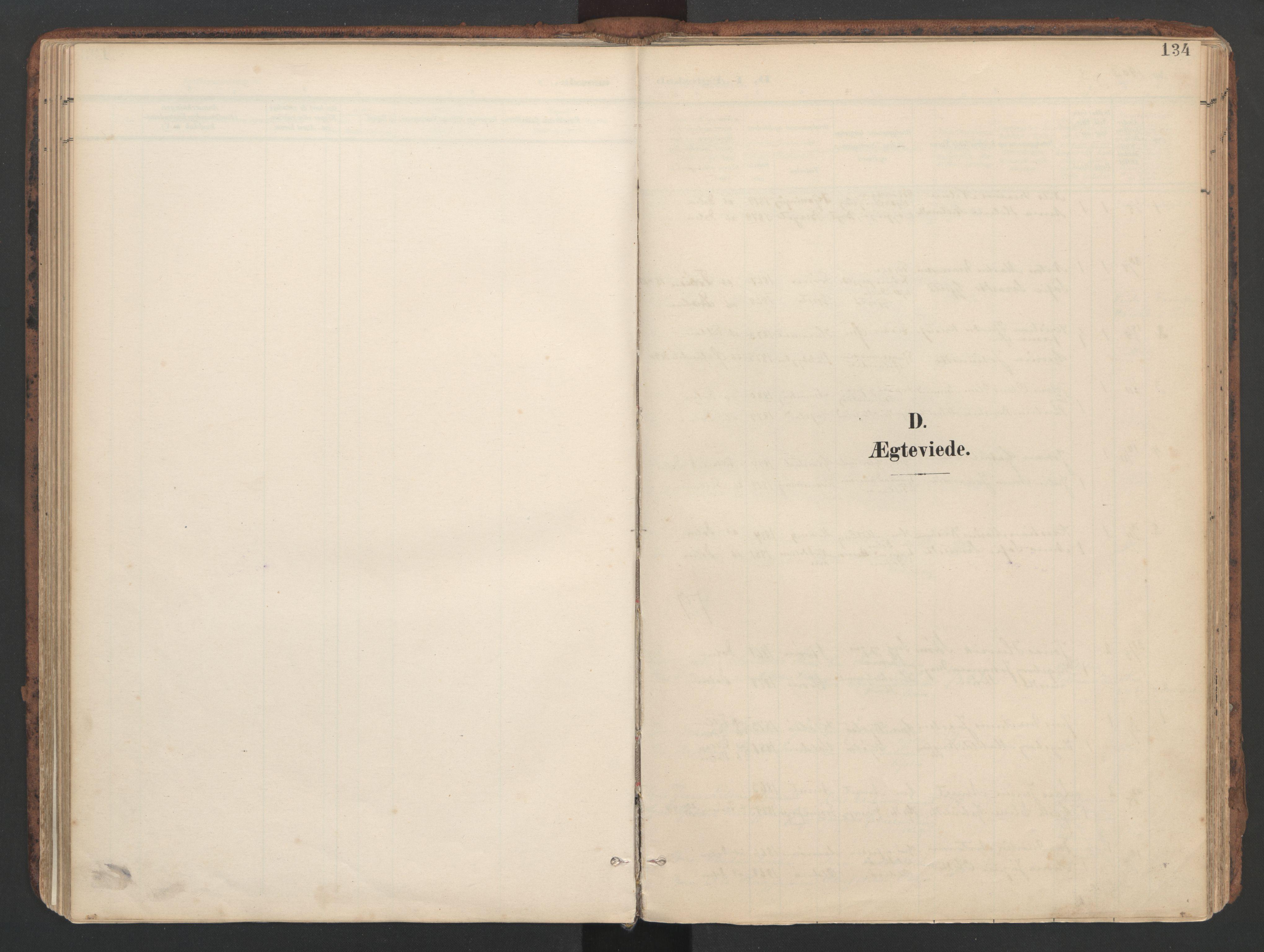 SAT, Ministerialprotokoller, klokkerbøker og fødselsregistre - Sør-Trøndelag, 634/L0537: Ministerialbok nr. 634A13, 1896-1922, s. 134