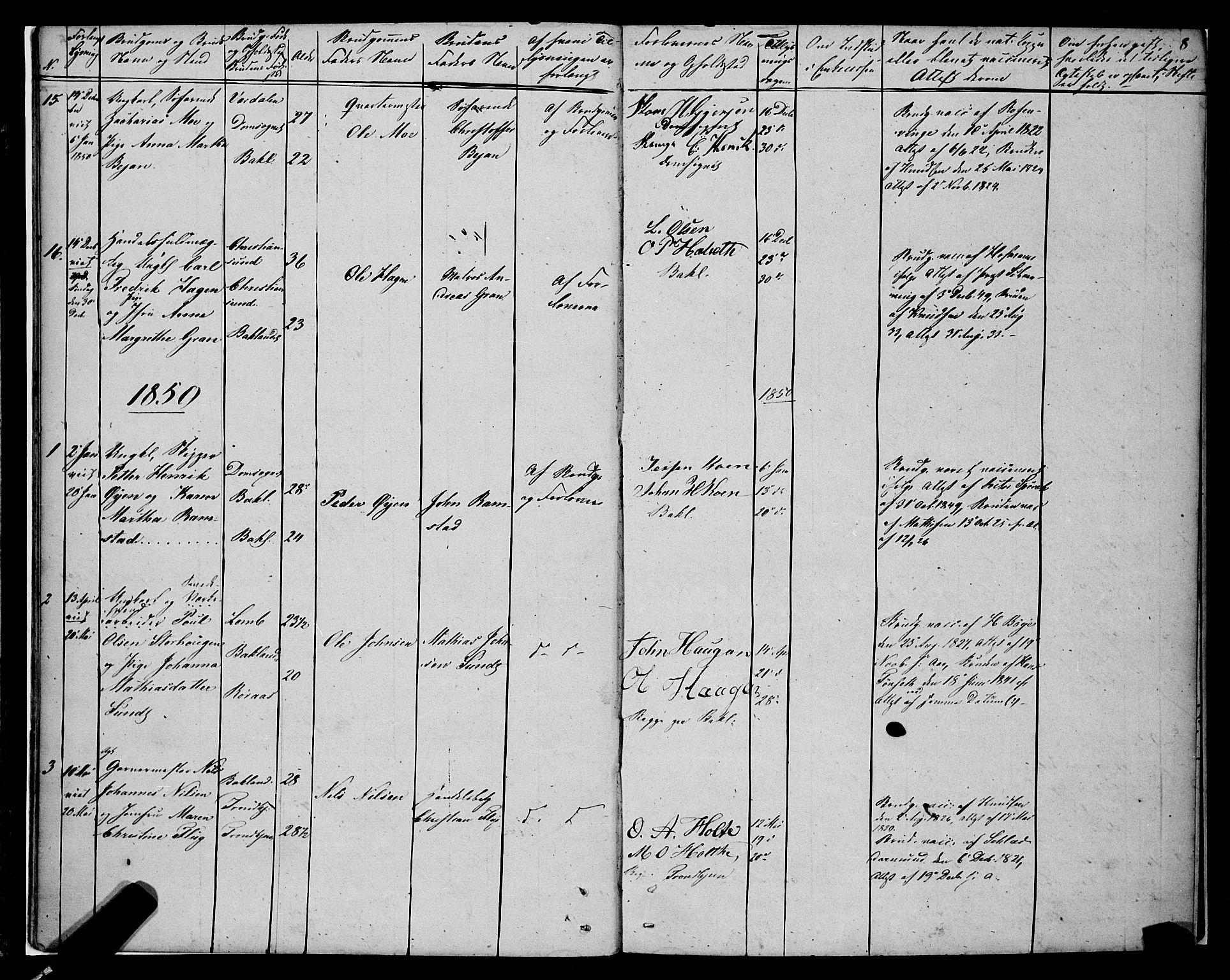 SAT, Ministerialprotokoller, klokkerbøker og fødselsregistre - Sør-Trøndelag, 604/L0187: Ministerialbok nr. 604A08, 1847-1878, s. 8