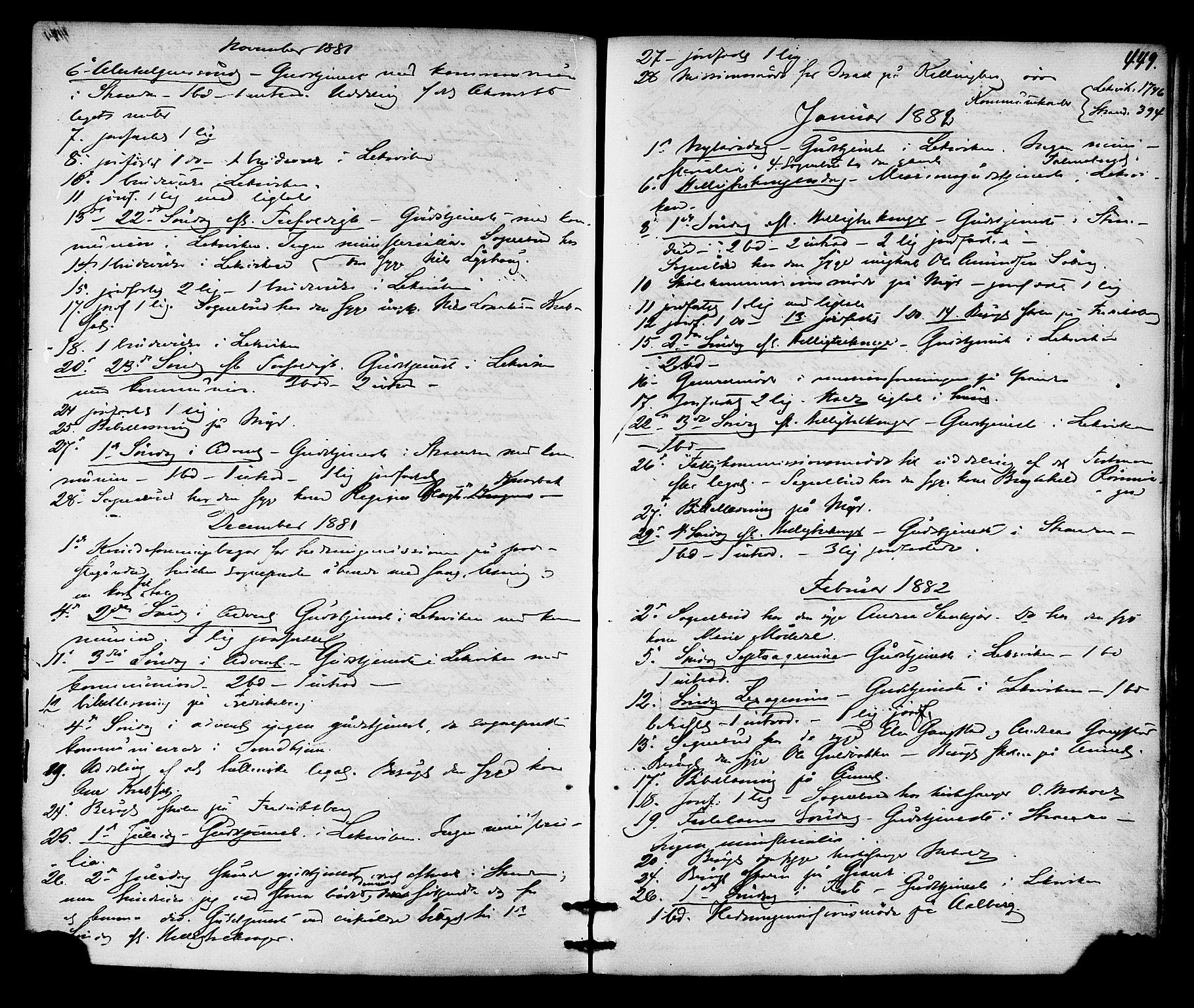 SAT, Ministerialprotokoller, klokkerbøker og fødselsregistre - Nord-Trøndelag, 701/L0009: Ministerialbok nr. 701A09 /1, 1864-1882, s. 449