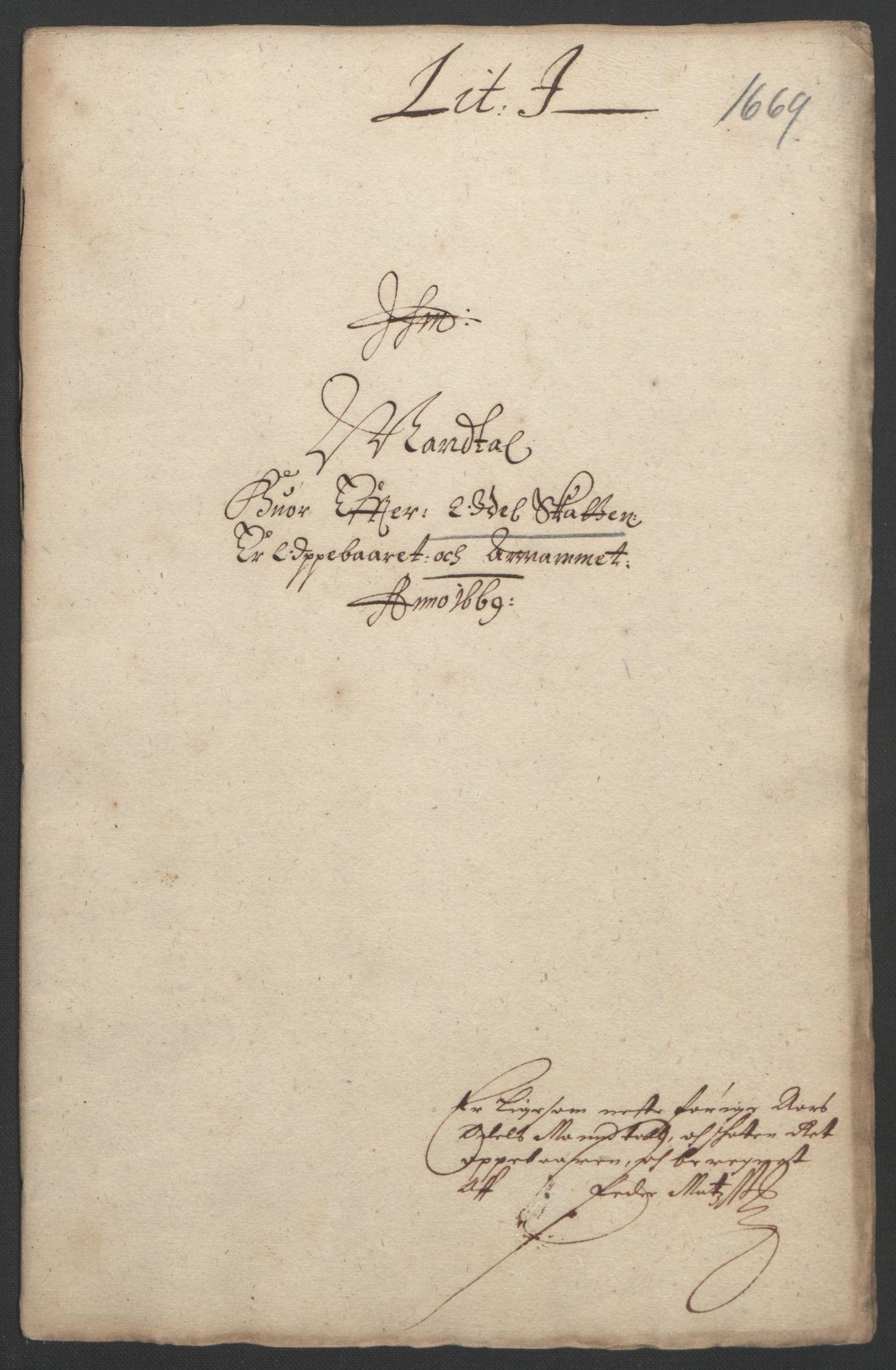 RA, Rentekammeret inntil 1814, Reviderte regnskaper, Fogderegnskap, R33/L1965: Fogderegnskap Larvik grevskap, 1669-1670, s. 76