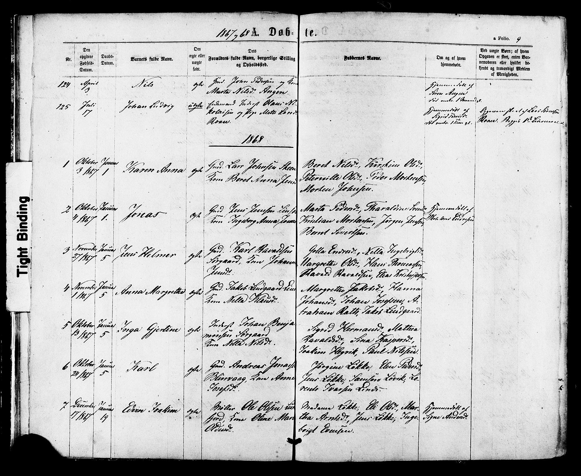 SAT, Ministerialprotokoller, klokkerbøker og fødselsregistre - Sør-Trøndelag, 657/L0706: Ministerialbok nr. 657A07, 1867-1878, s. 9