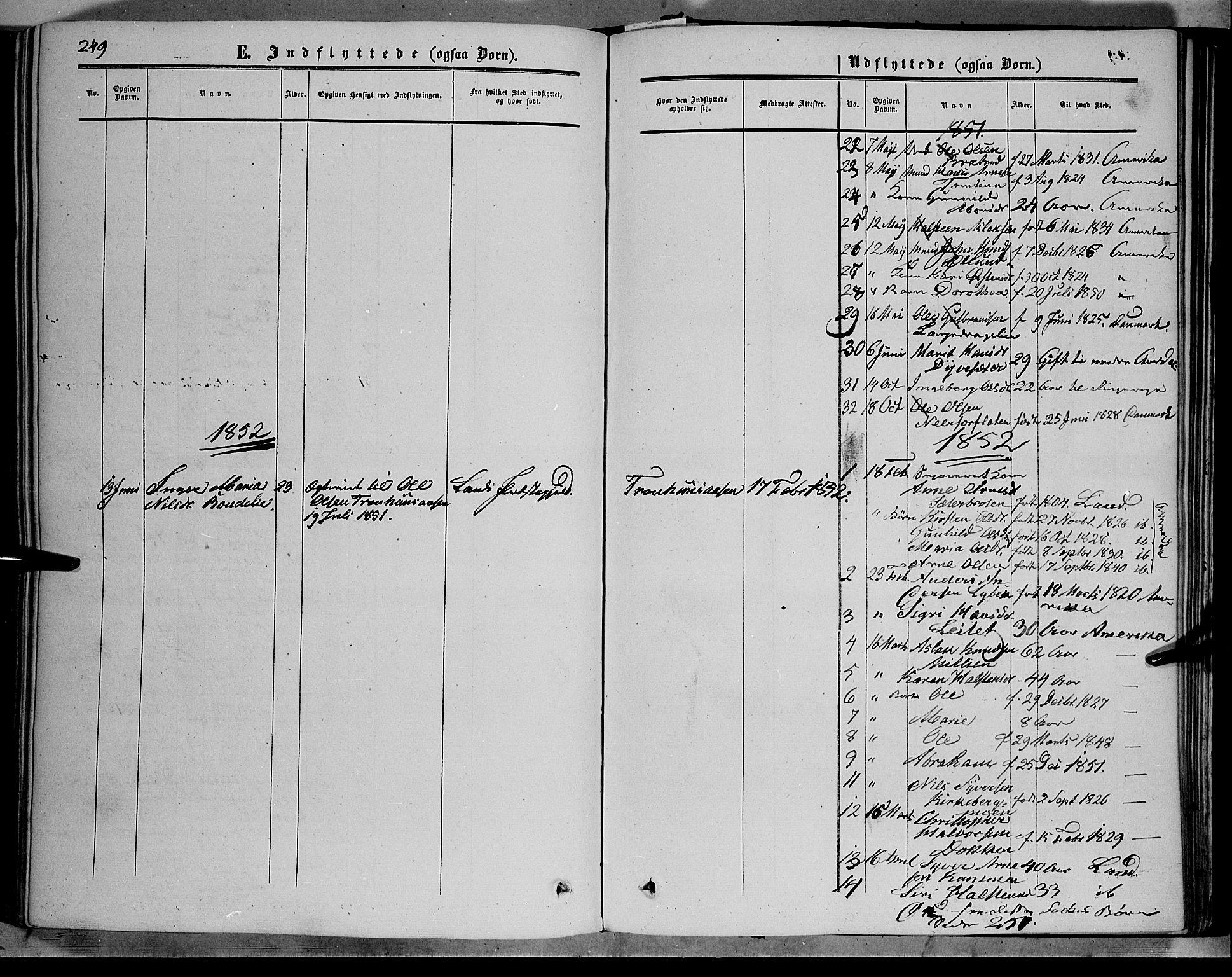 SAH, Sør-Aurdal prestekontor, Ministerialbok nr. 5, 1849-1876, s. 249