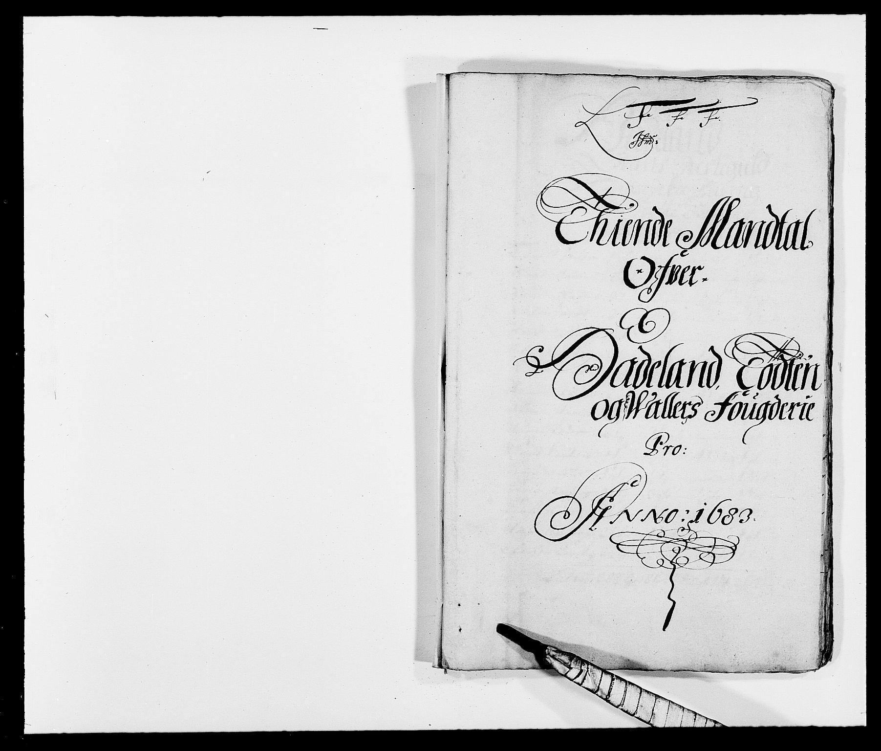 RA, Rentekammeret inntil 1814, Reviderte regnskaper, Fogderegnskap, R18/L1282: Fogderegnskap Hadeland, Toten og Valdres, 1683, s. 103