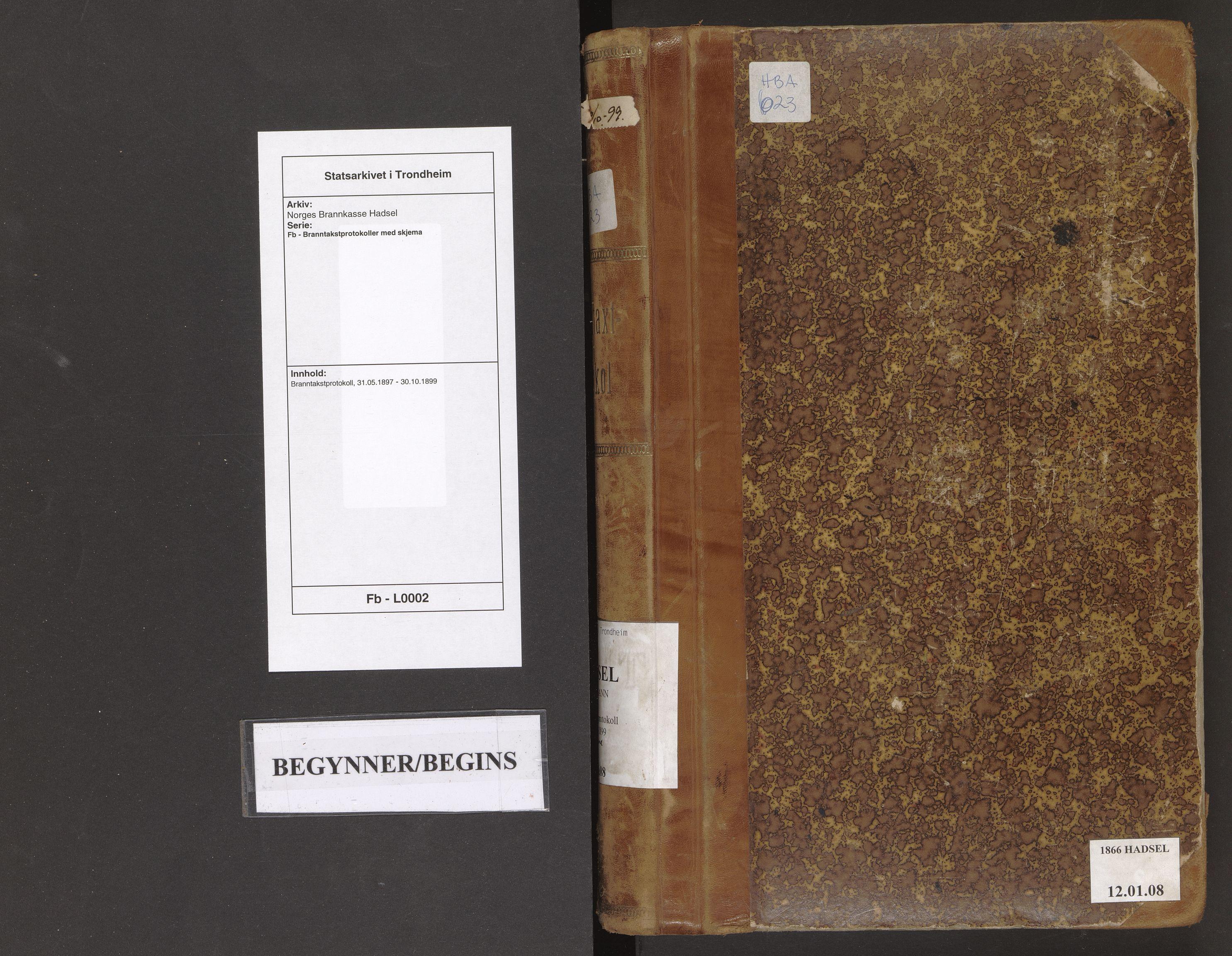 SAT, Norges Brannkasse Hadsel, Fb/L0002: Branntakstprotokoll, 1897-1899