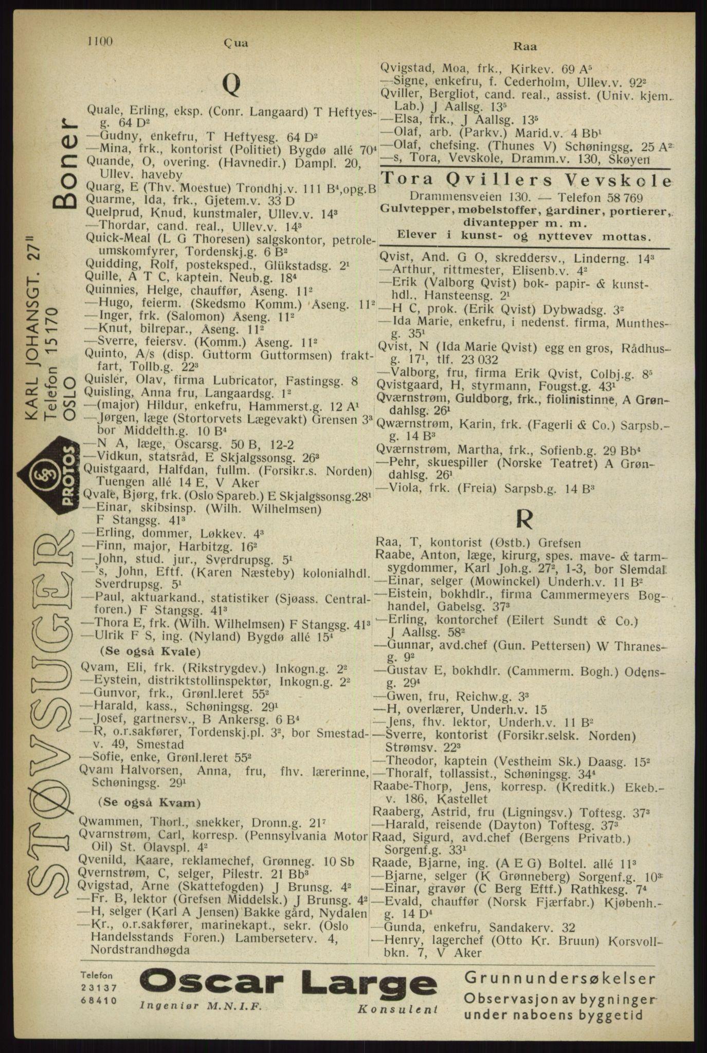 RA, Oslo adressebok (publikasjon)*, 1933, s. 1100