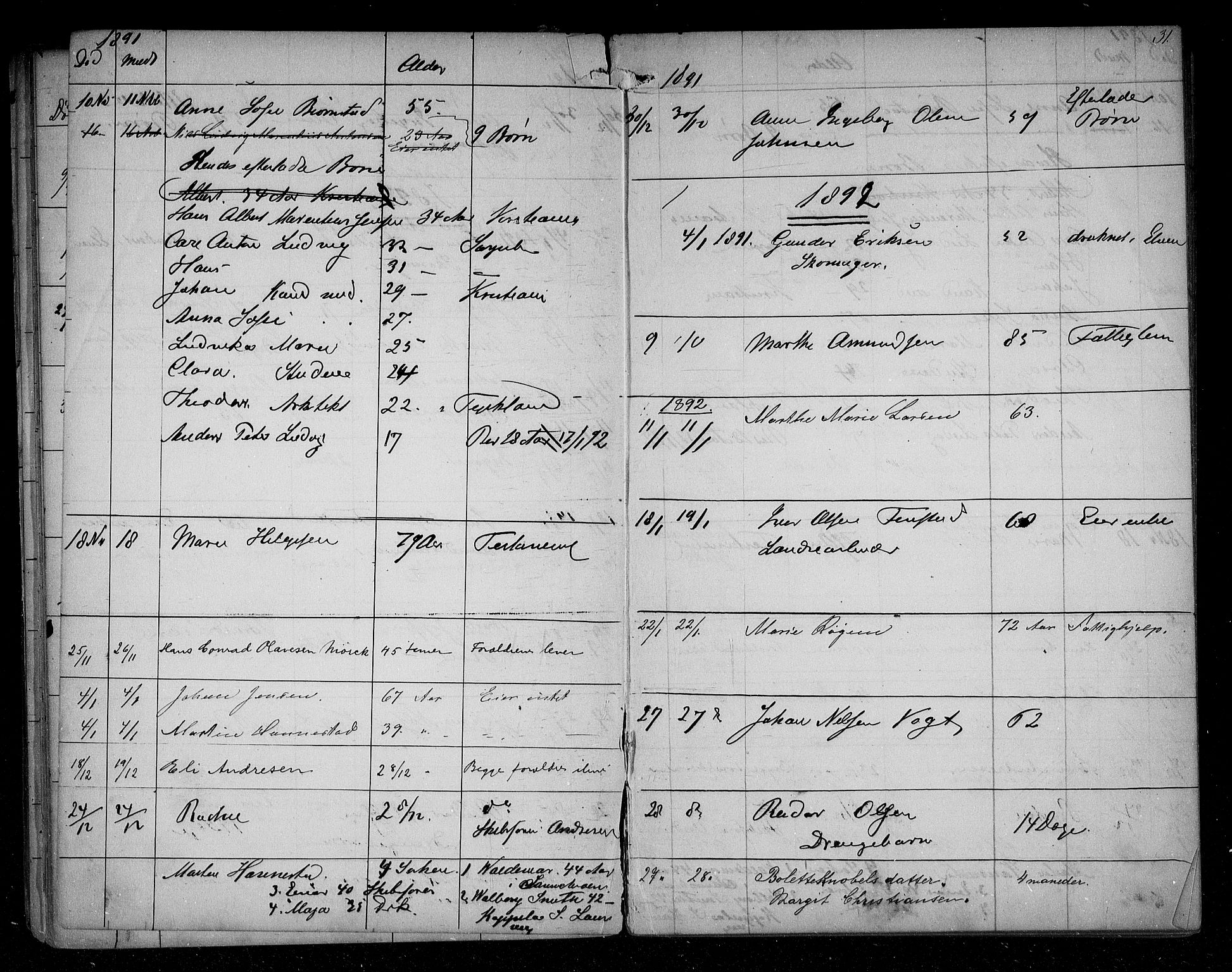 SAO, Sarpsborg byfogd, H/Ha/Haa/L0001: Dødsfallsprotokoll, 1880-1904, s. 30b-31a