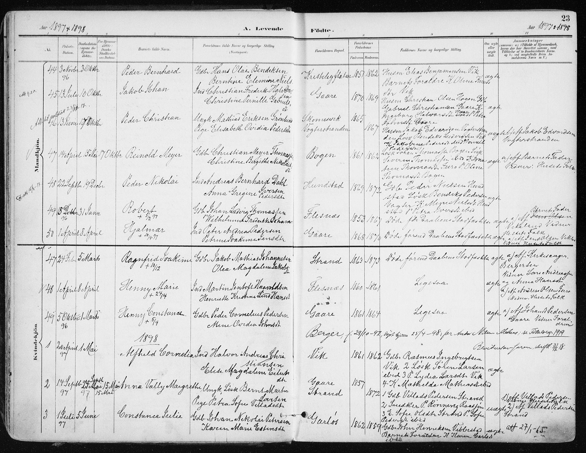 SATØ, Kvæfjord sokneprestkontor, G/Ga/Gaa/L0006kirke: Ministerialbok nr. 6, 1895-1914, s. 23