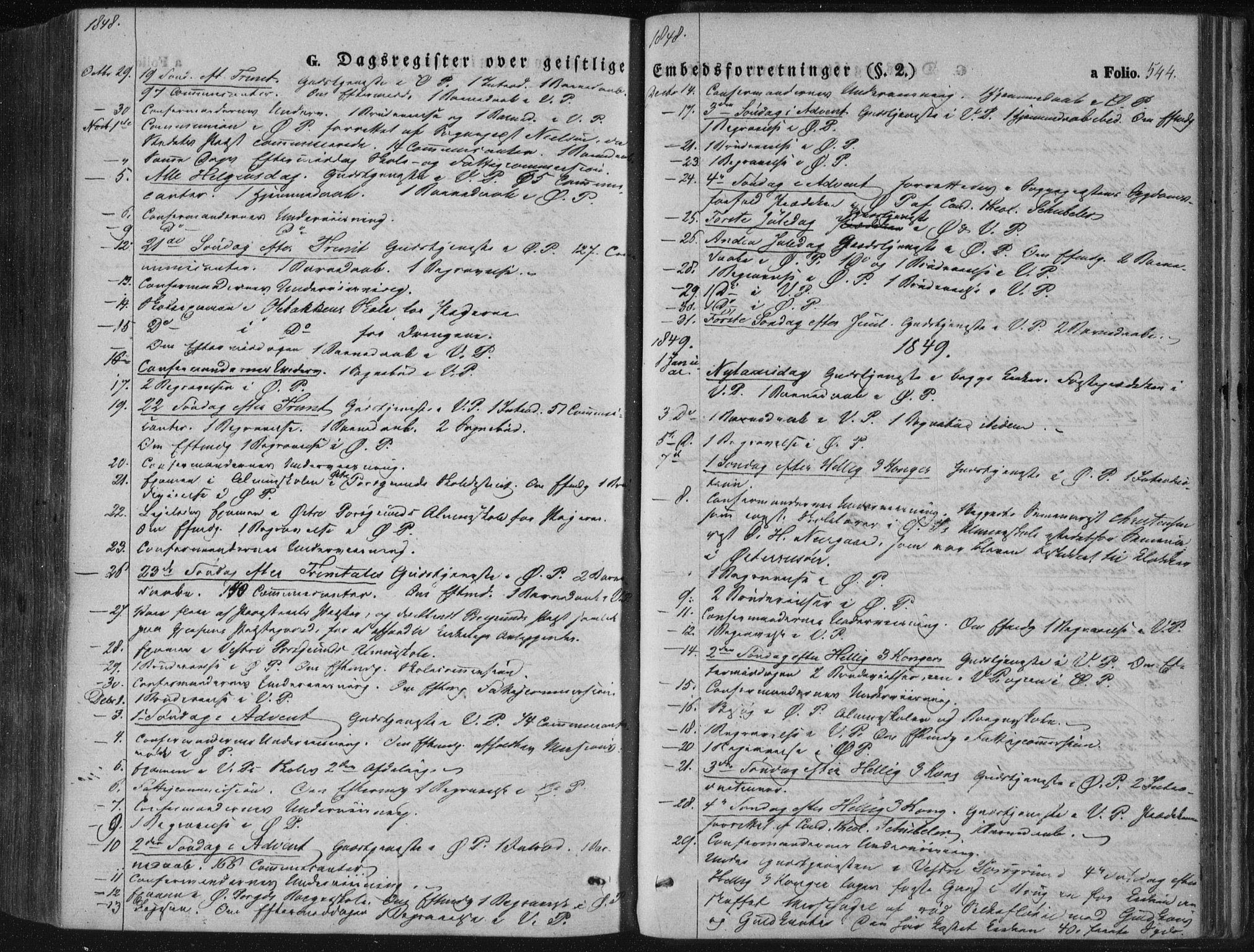 SAKO, Porsgrunn kirkebøker , F/Fa/L0006: Ministerialbok nr. 6, 1841-1857, s. 544