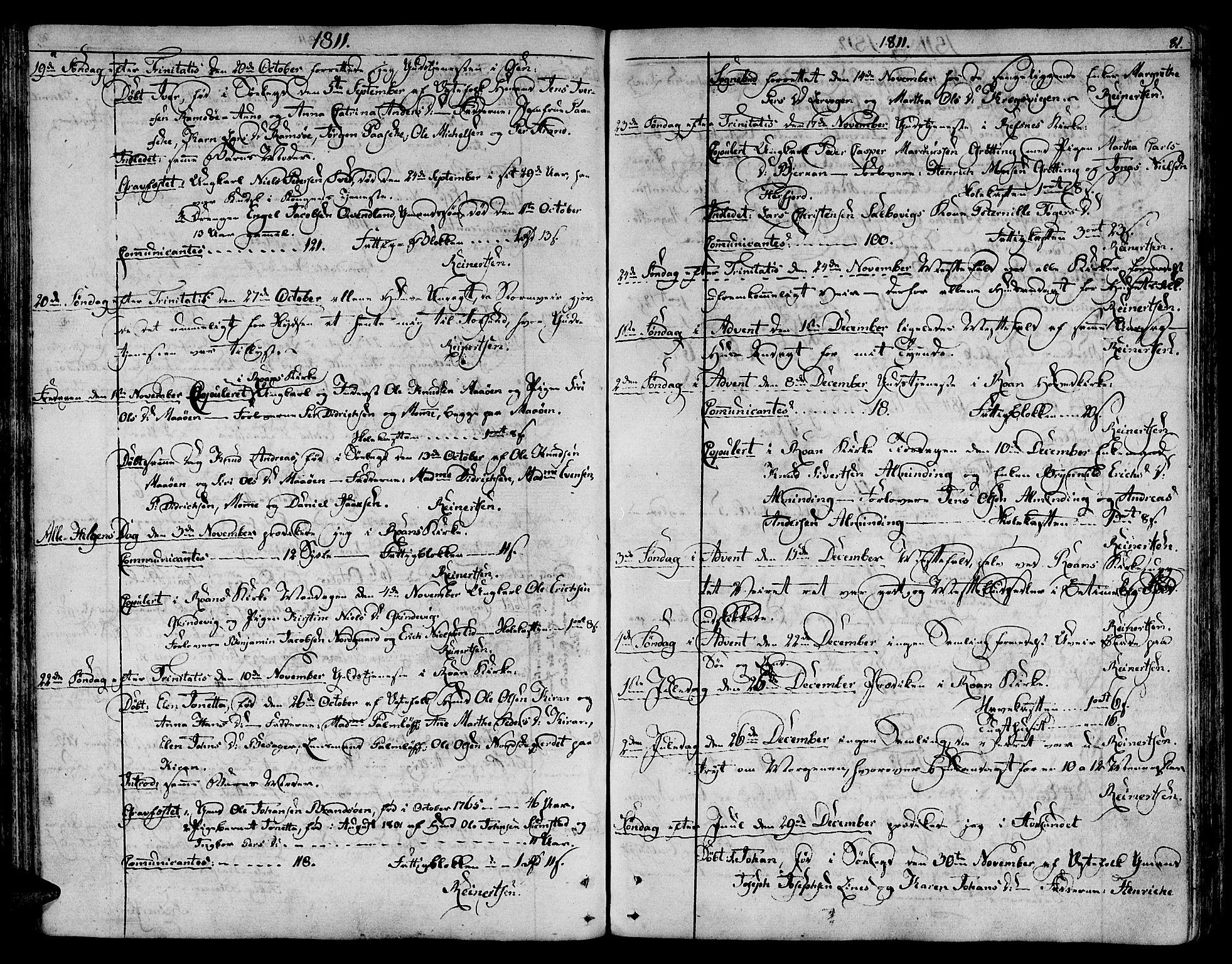 SAT, Ministerialprotokoller, klokkerbøker og fødselsregistre - Sør-Trøndelag, 657/L0701: Ministerialbok nr. 657A02, 1802-1831, s. 81