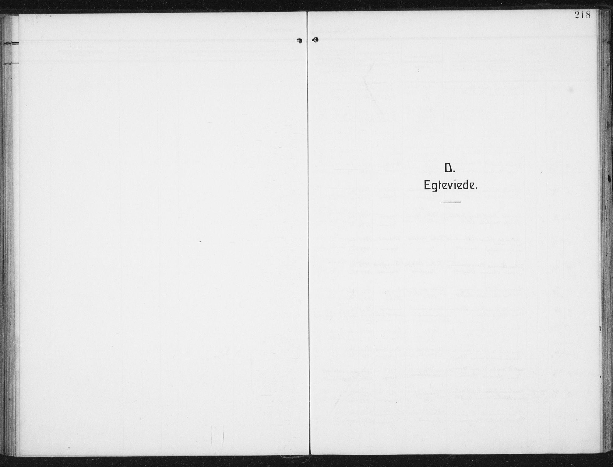 SAT, Ministerialprotokoller, klokkerbøker og fødselsregistre - Nordland, 880/L1135: Ministerialbok nr. 880A09, 1908-1919, s. 218