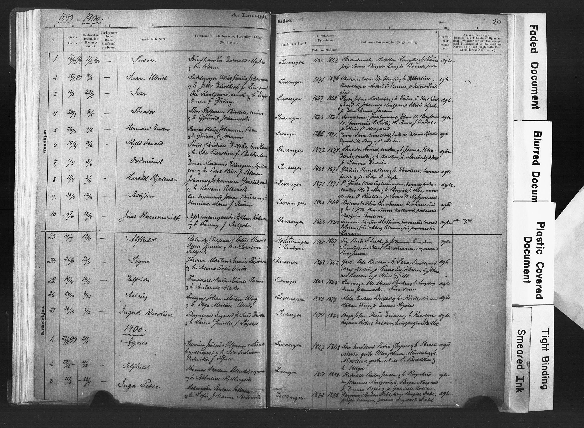 SAT, Ministerialprotokoller, klokkerbøker og fødselsregistre - Nord-Trøndelag, 720/L0189: Ministerialbok nr. 720A05, 1880-1911, s. 28