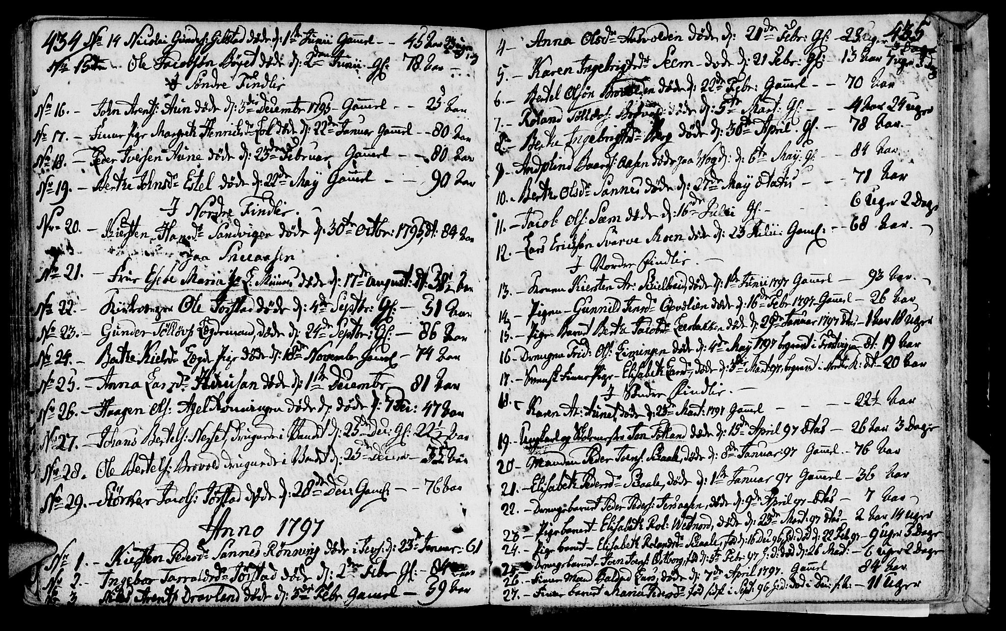 SAT, Ministerialprotokoller, klokkerbøker og fødselsregistre - Nord-Trøndelag, 749/L0468: Ministerialbok nr. 749A02, 1787-1817, s. 434-435