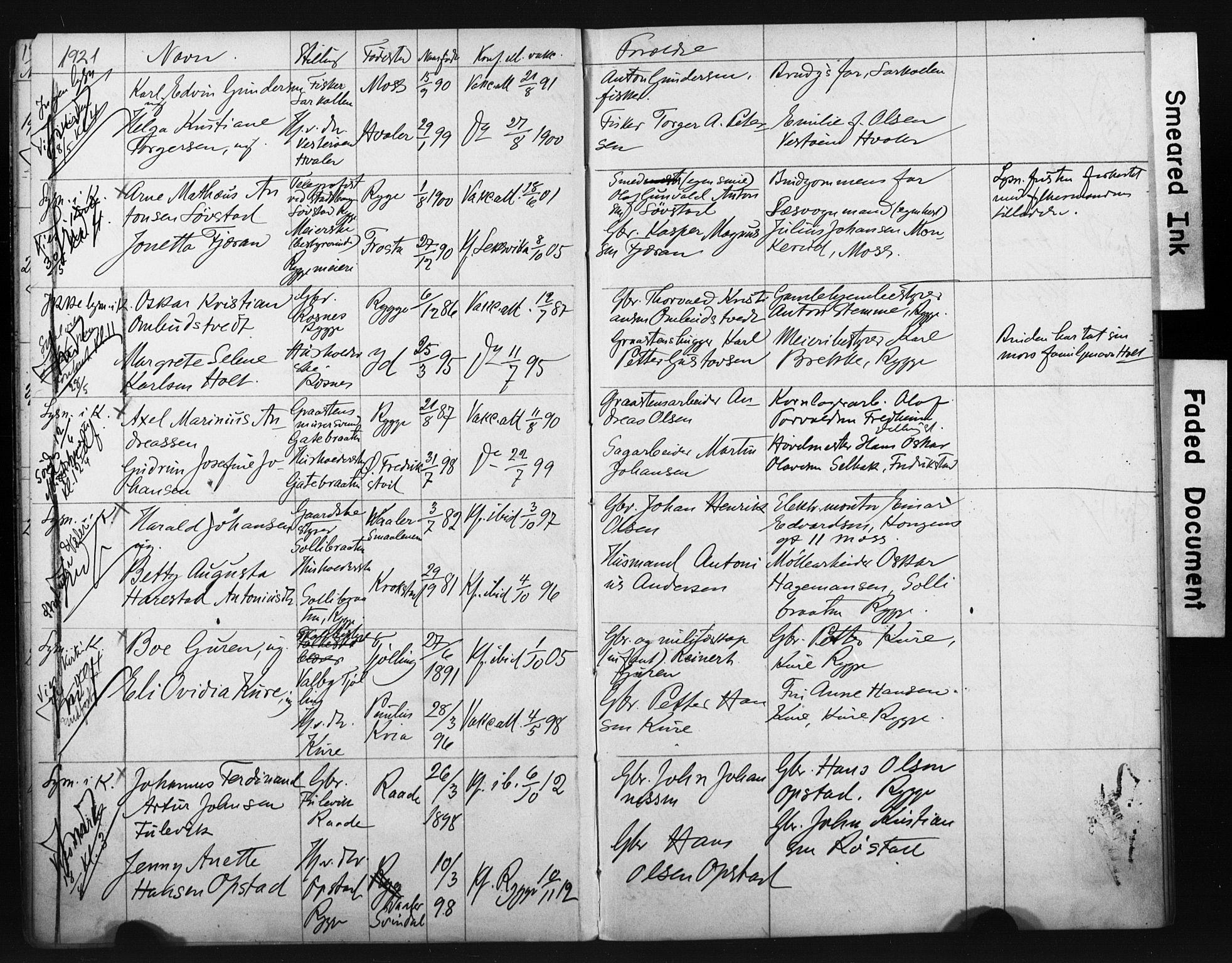 SAT, Ministerialprotokoller, klokkerbøker og fødselsregistre - Sør-Trøndelag, 604/L0202: Lysningsprotokoll nr. 604A22, 1914-1927