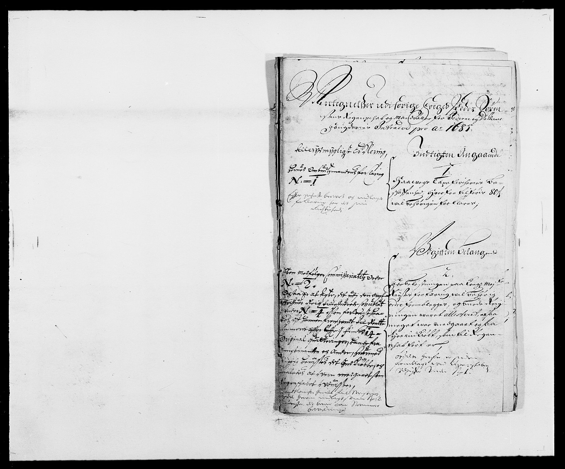 RA, Rentekammeret inntil 1814, Reviderte regnskaper, Fogderegnskap, R46/L2725: Fogderegnskap Jæren og Dalane, 1685, s. 168