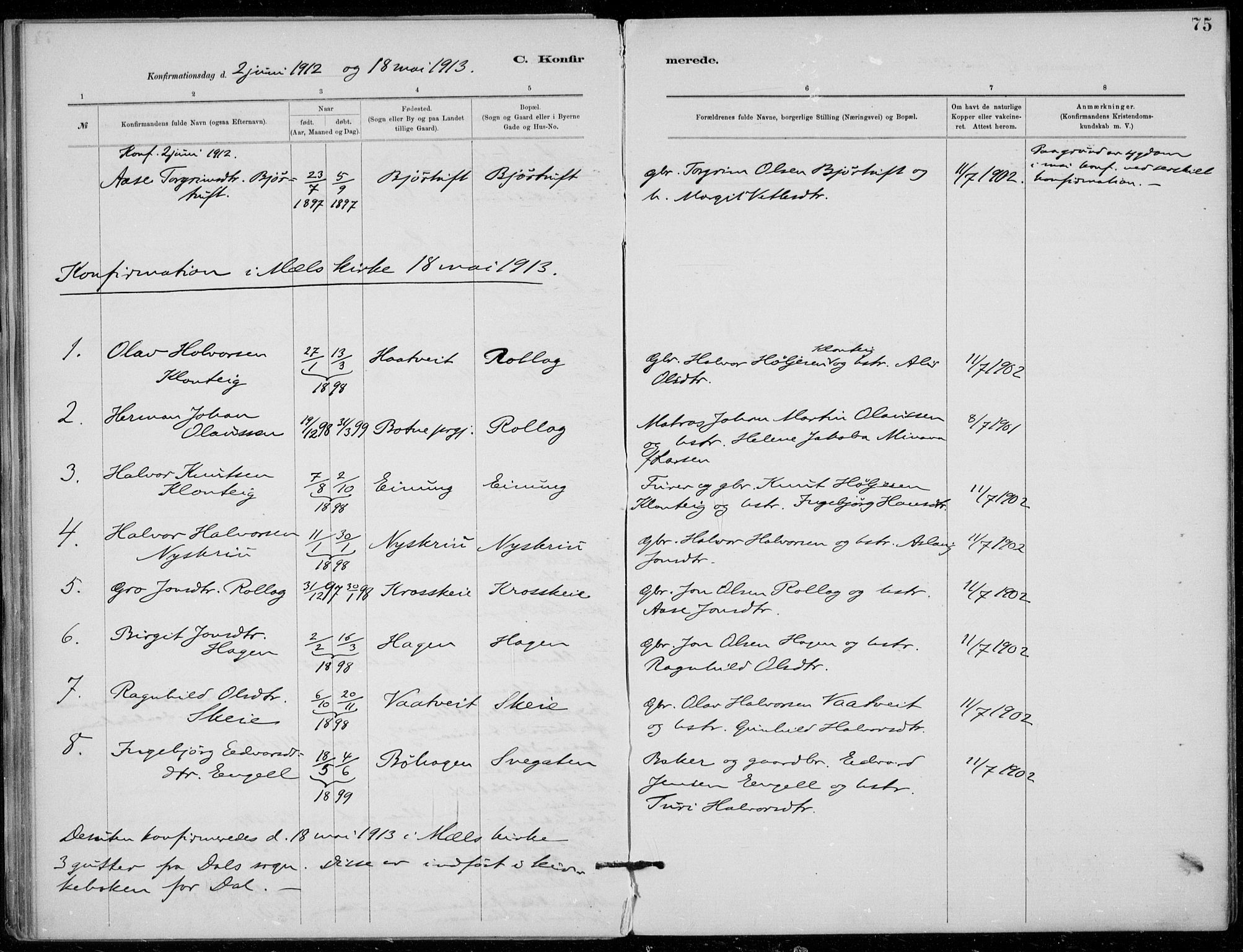 SAKO, Tinn kirkebøker, F/Fb/L0002: Ministerialbok nr. II 2, 1878-1917, s. 75
