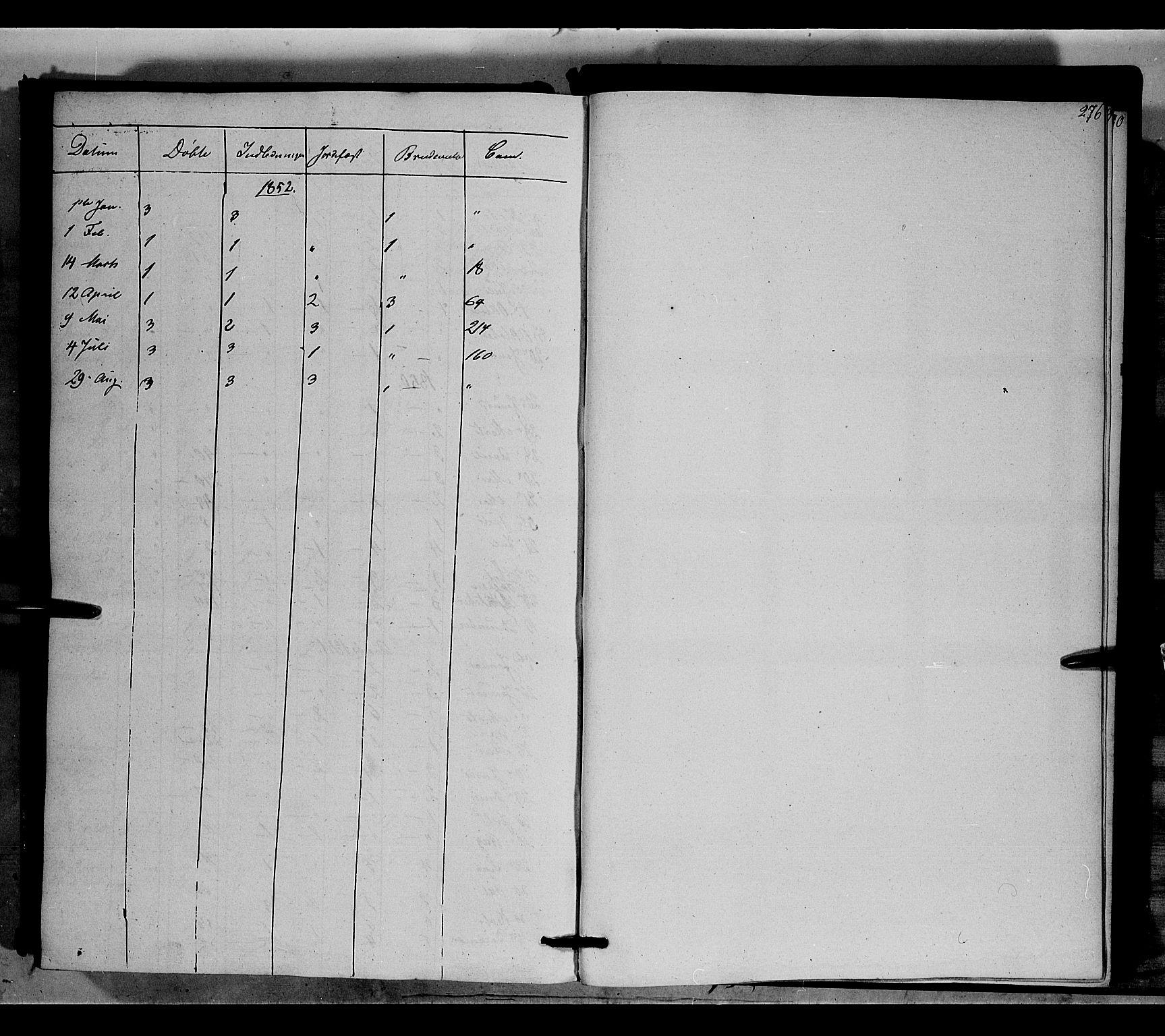 SAH, Nord-Aurdal prestekontor, Ministerialbok nr. 6, 1842-1863, s. 276