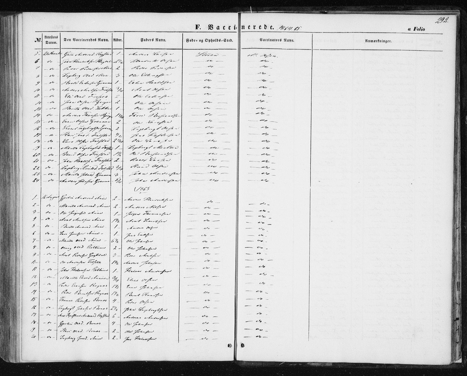 SAT, Ministerialprotokoller, klokkerbøker og fødselsregistre - Sør-Trøndelag, 687/L1000: Ministerialbok nr. 687A06, 1848-1869, s. 292