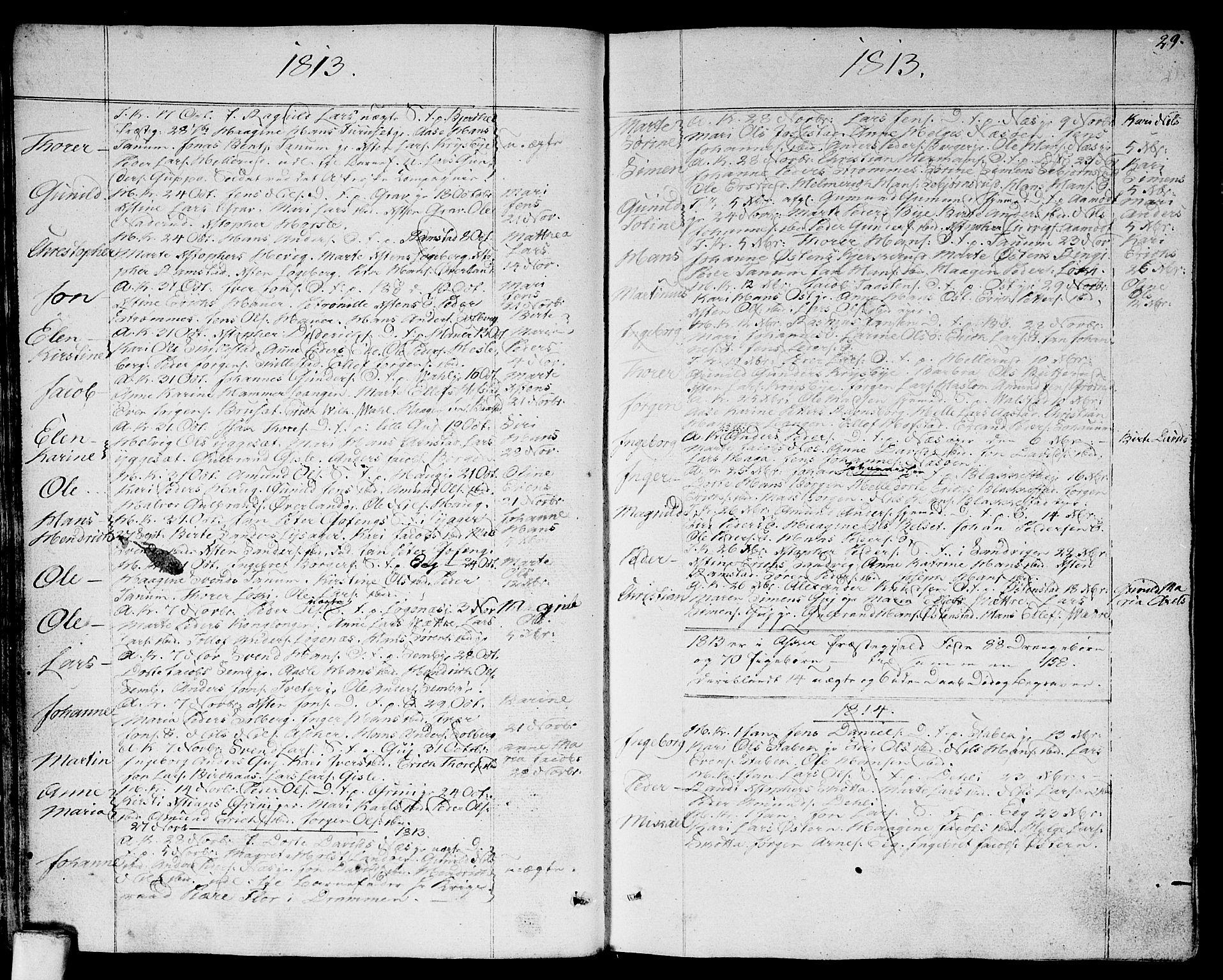 SAO, Asker prestekontor Kirkebøker, F/Fa/L0005: Ministerialbok nr. I 5, 1807-1813, s. 29