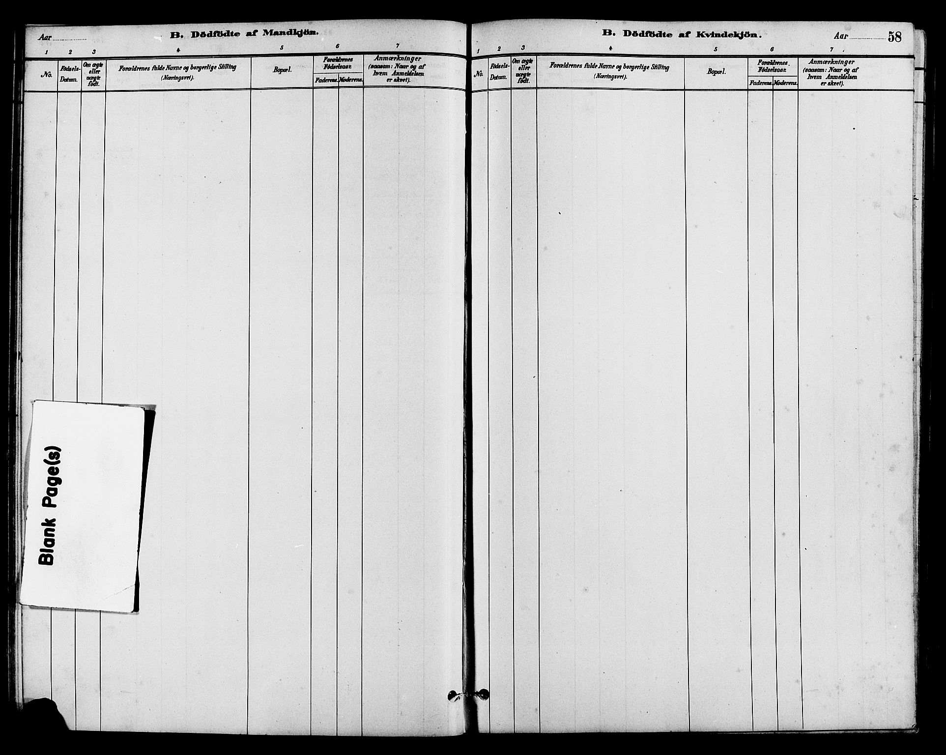 SAH, Vestre Slidre prestekontor, Klokkerbok nr. 5, 1881-1913, s. 58