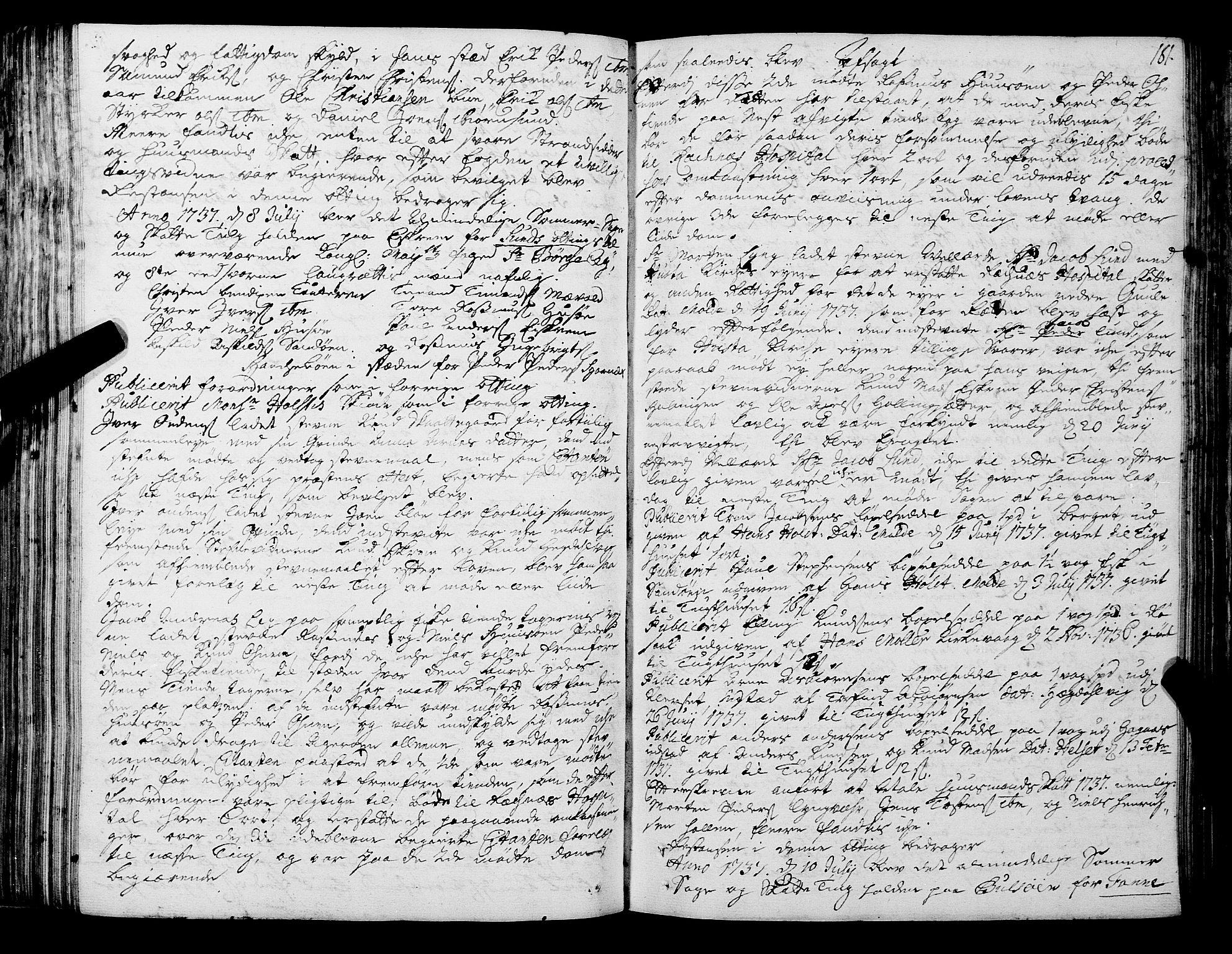 SAT, Romsdal sorenskriveri, 1/1A/L0011: Tingbok, 1732-1740, s. 180b-181a