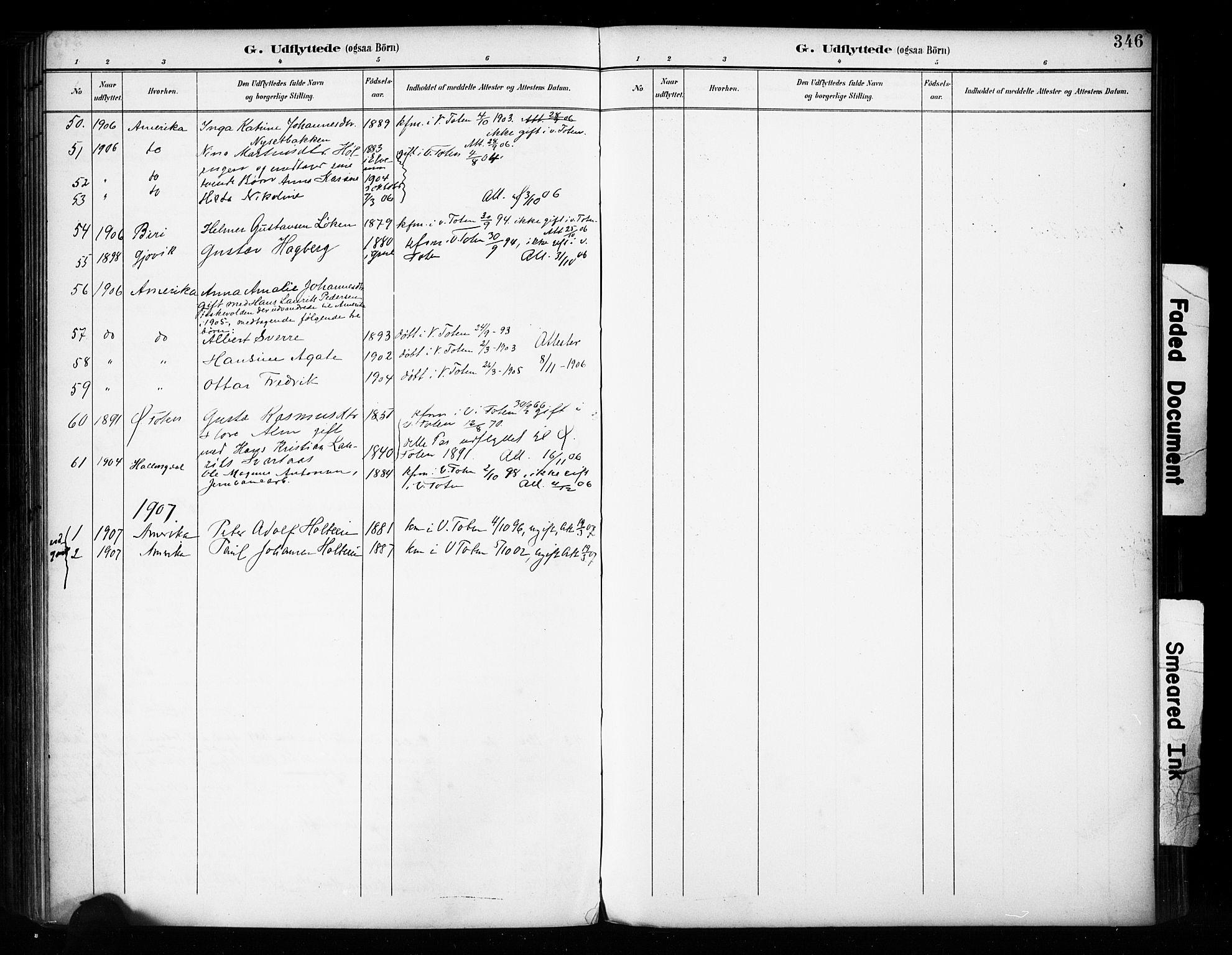 SAH, Vestre Toten prestekontor, H/Ha/Haa/L0011: Ministerialbok nr. 11, 1895-1906, s. 346