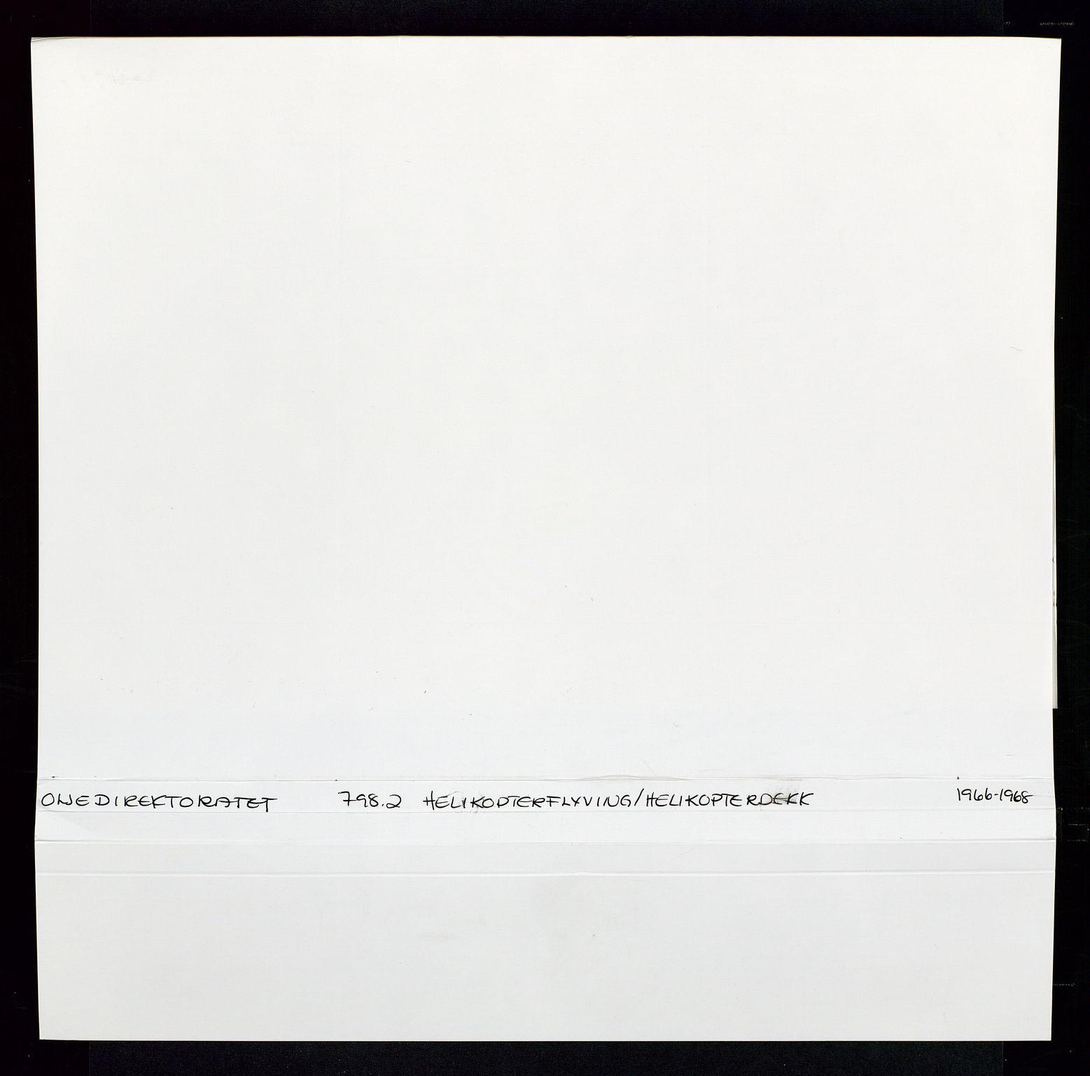 SAST, Industridepartementet, Oljekontoret, Da/L0012: Arkivnøkkel 798 Helikopter, luftfart, telekommunikasjon og skademeldinger/ulykker, 1966-1972, s. 2