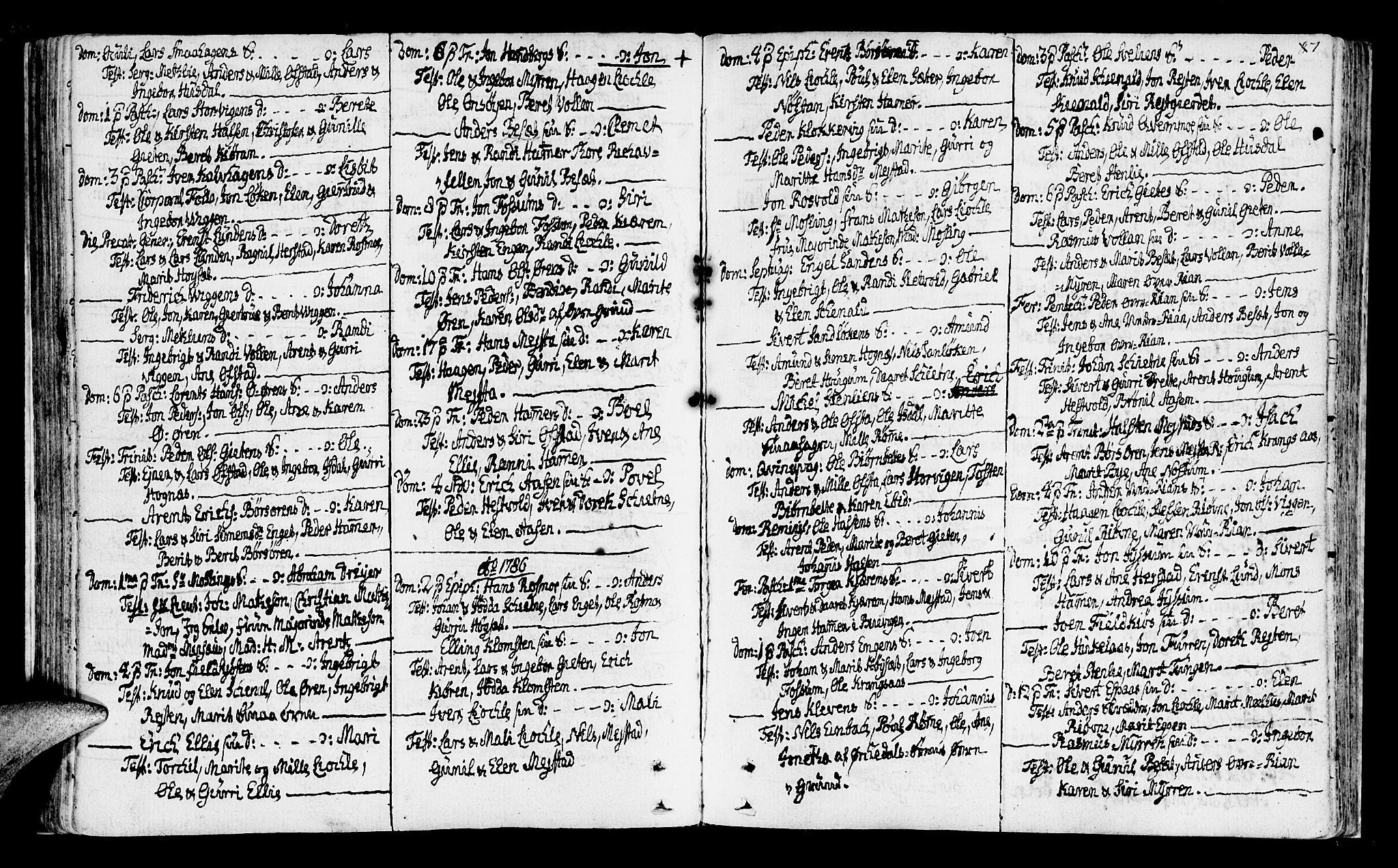 SAT, Ministerialprotokoller, klokkerbøker og fødselsregistre - Sør-Trøndelag, 665/L0768: Ministerialbok nr. 665A03, 1754-1803, s. 87