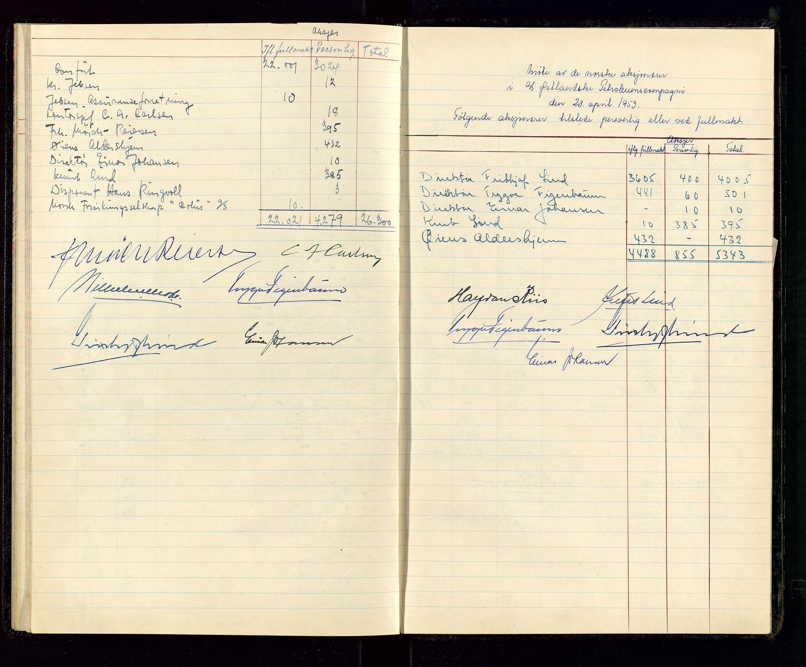 SAST, PA 1534 - Østlandske Petroleumscompagni A/S, A/Aa/L0001: Generalforsamlinger og direksjonsprotokoller., 1935-1963, s. 36