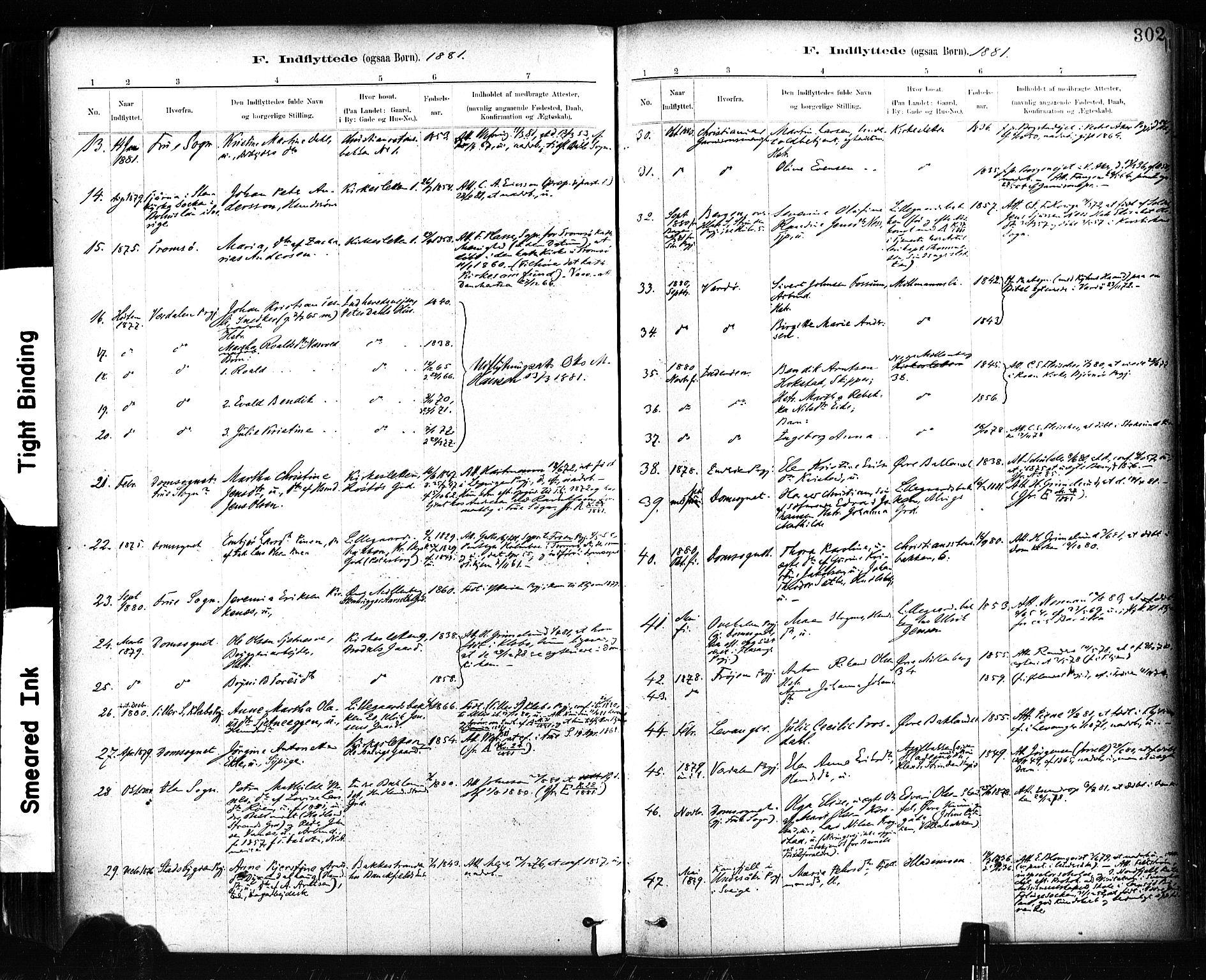 SAT, Ministerialprotokoller, klokkerbøker og fødselsregistre - Sør-Trøndelag, 604/L0189: Ministerialbok nr. 604A10, 1878-1892, s. 302