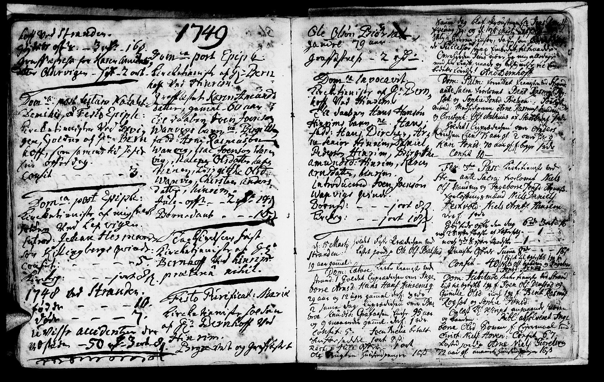 SAT, Ministerialprotokoller, klokkerbøker og fødselsregistre - Nord-Trøndelag, 701/L0002: Ministerialbok nr. 701A02 /2, 1738-1752